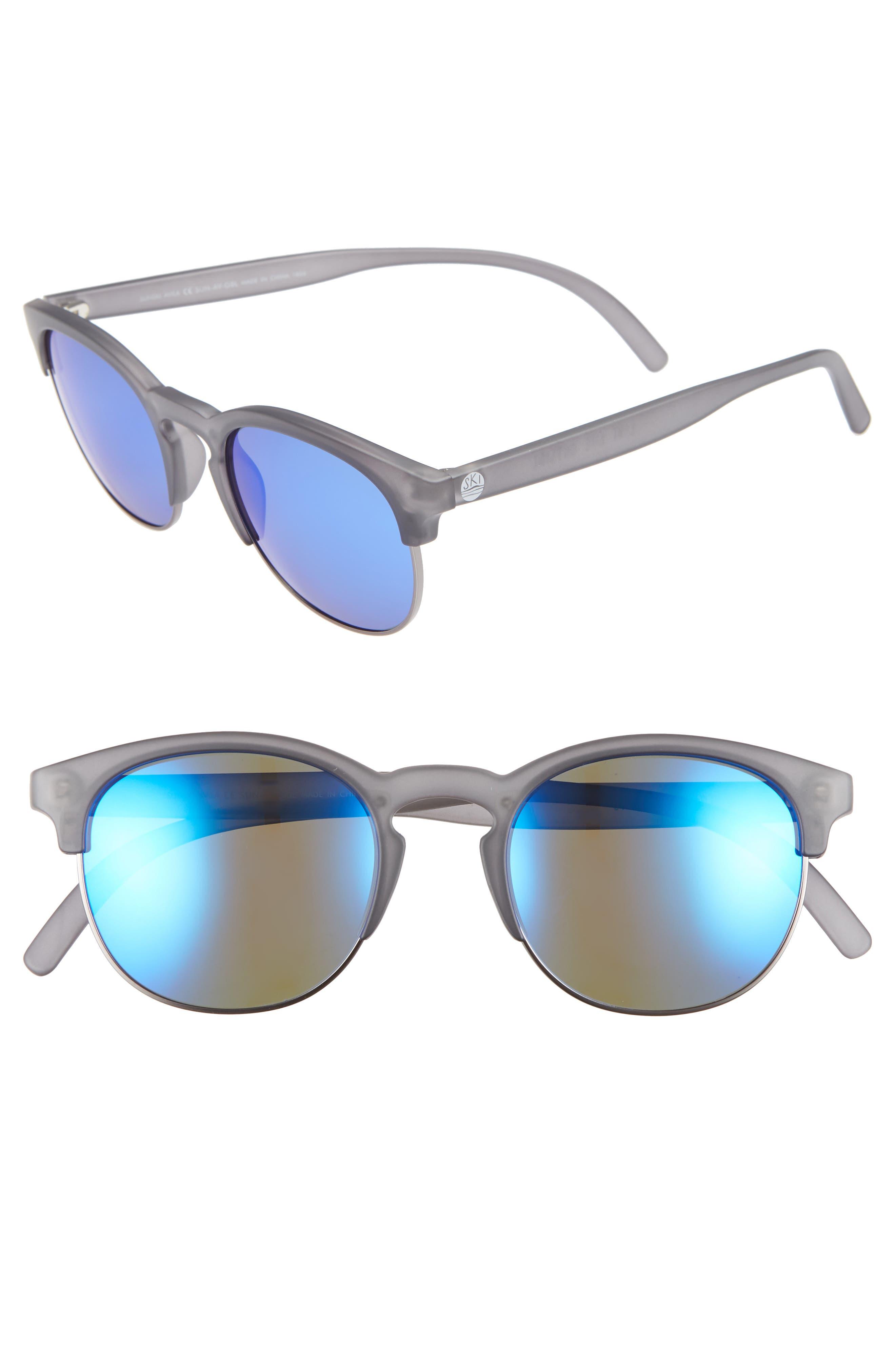 Sunski Avilas 51Mm Polarized Sunglasses - Grey/blue
