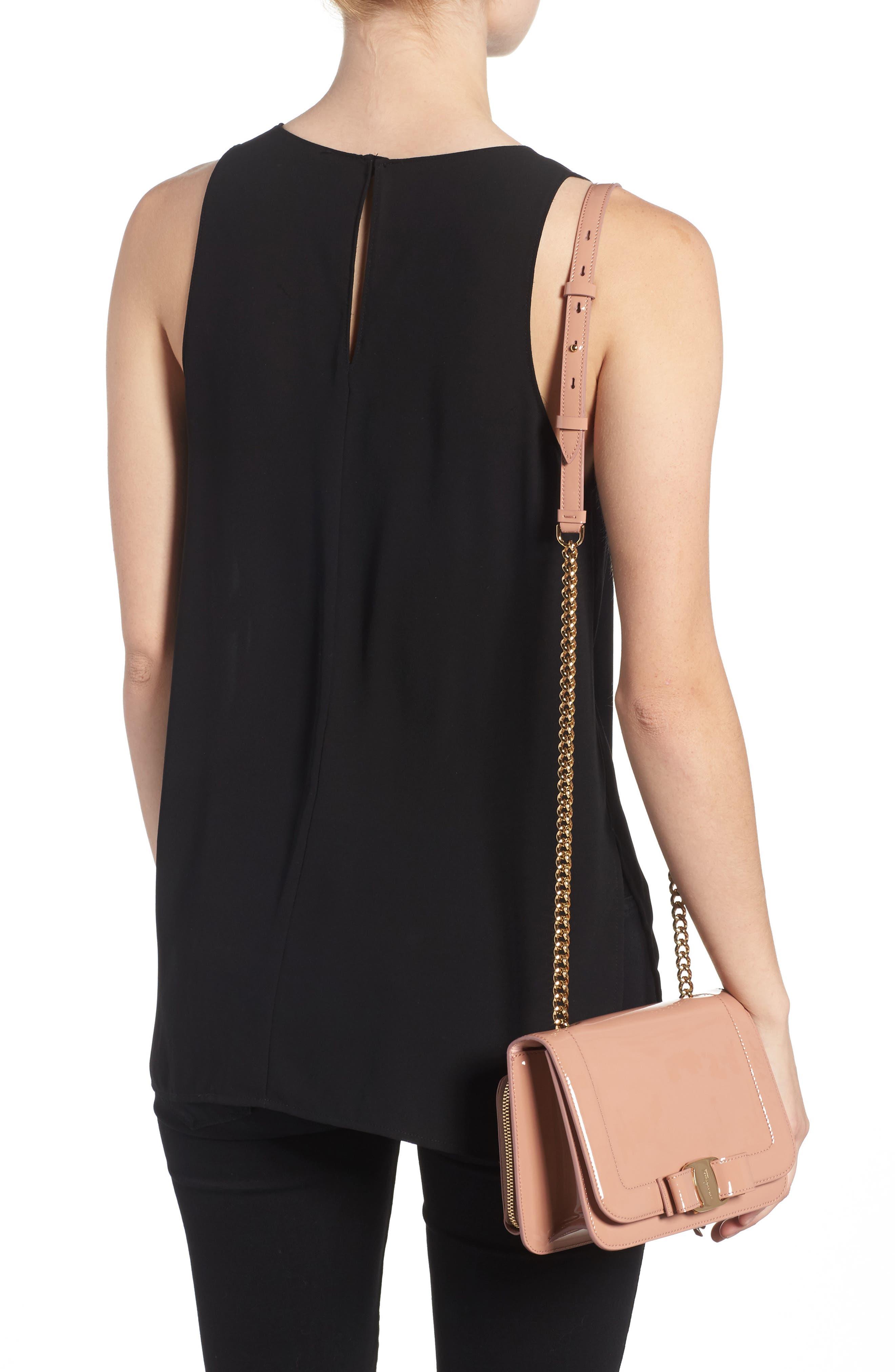 Vara Patent Leather Shoulder Bag,                             Alternate thumbnail 2, color,                             NEW BLUSH/ BONBON