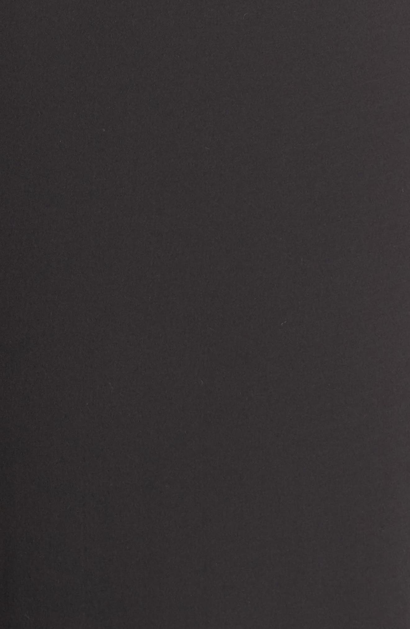High Rise Side Stripe Silk Pants,                             Alternate thumbnail 5, color,                             BLACK