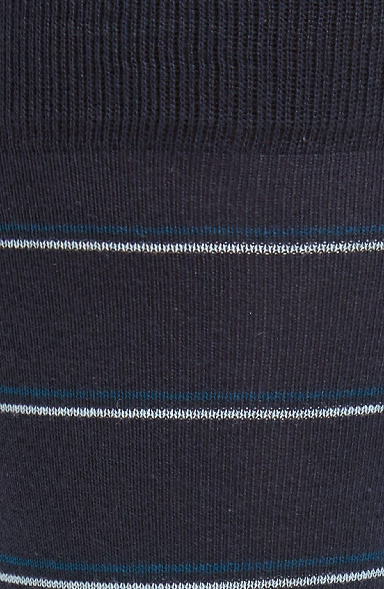 Stripe Socks,                             Alternate thumbnail 2, color,                             NAVY HEATHER/ WHITE