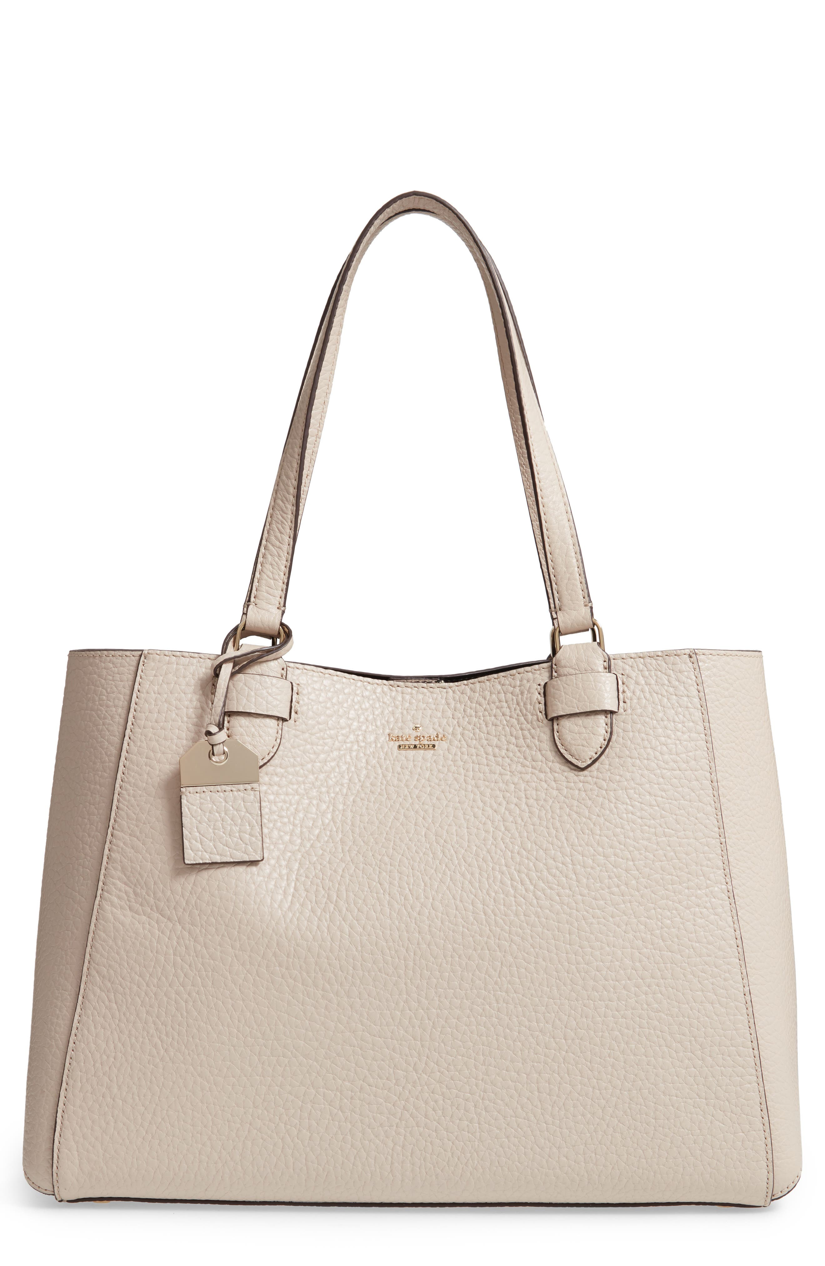 carter street - tyler leather tote,                             Main thumbnail 3, color,