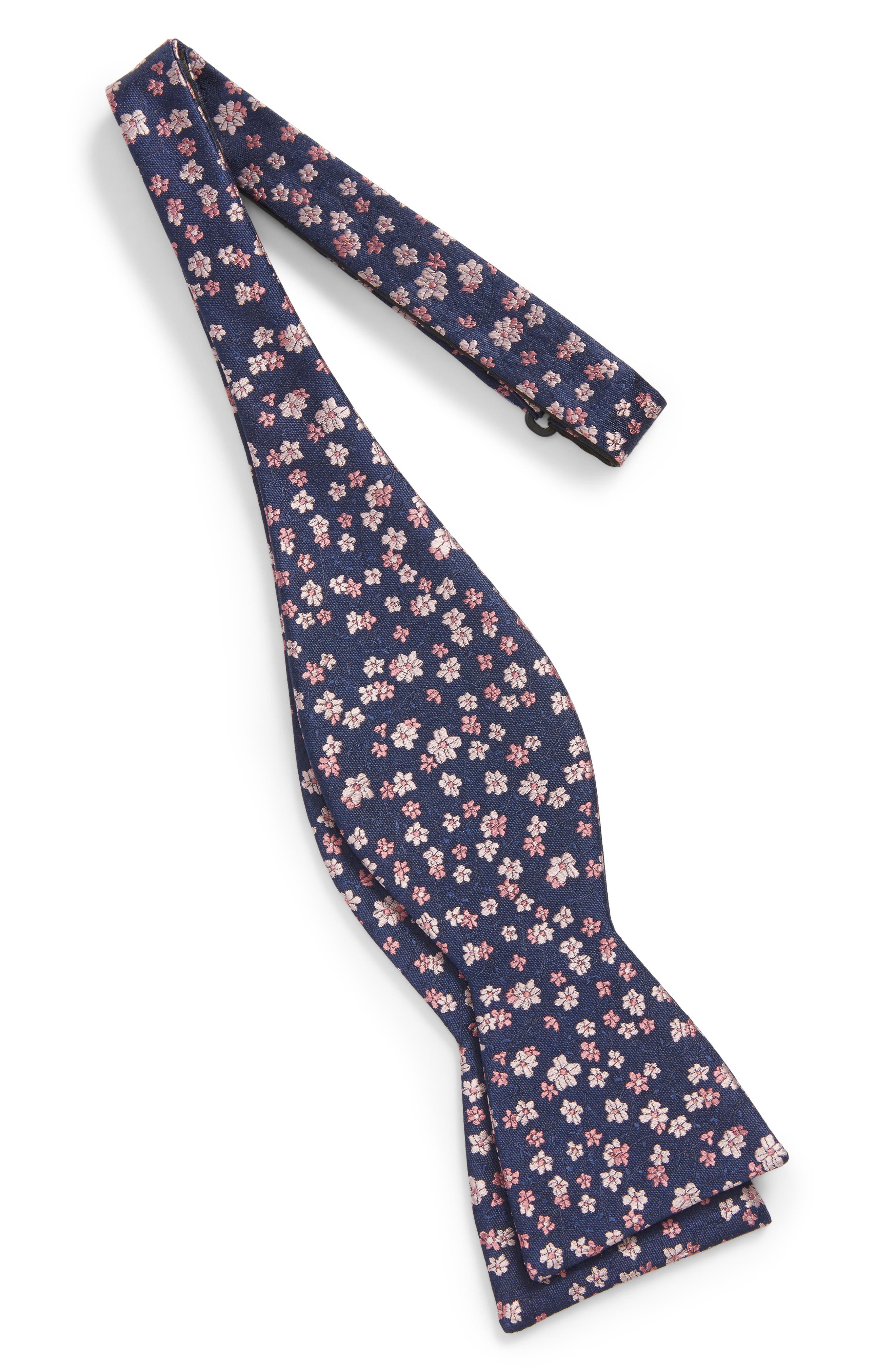 Free Fall Floral Silk Bow Tie,                             Alternate thumbnail 6, color,