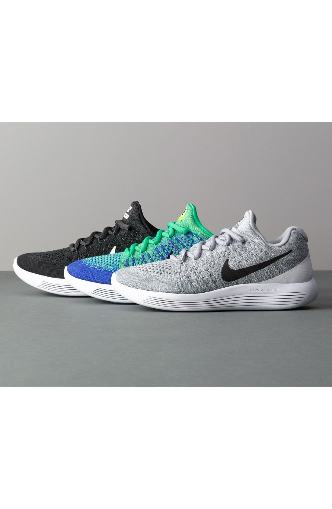 Flyknit 2 LunarEpic Running Shoe,                             Alternate thumbnail 5, color,                             001
