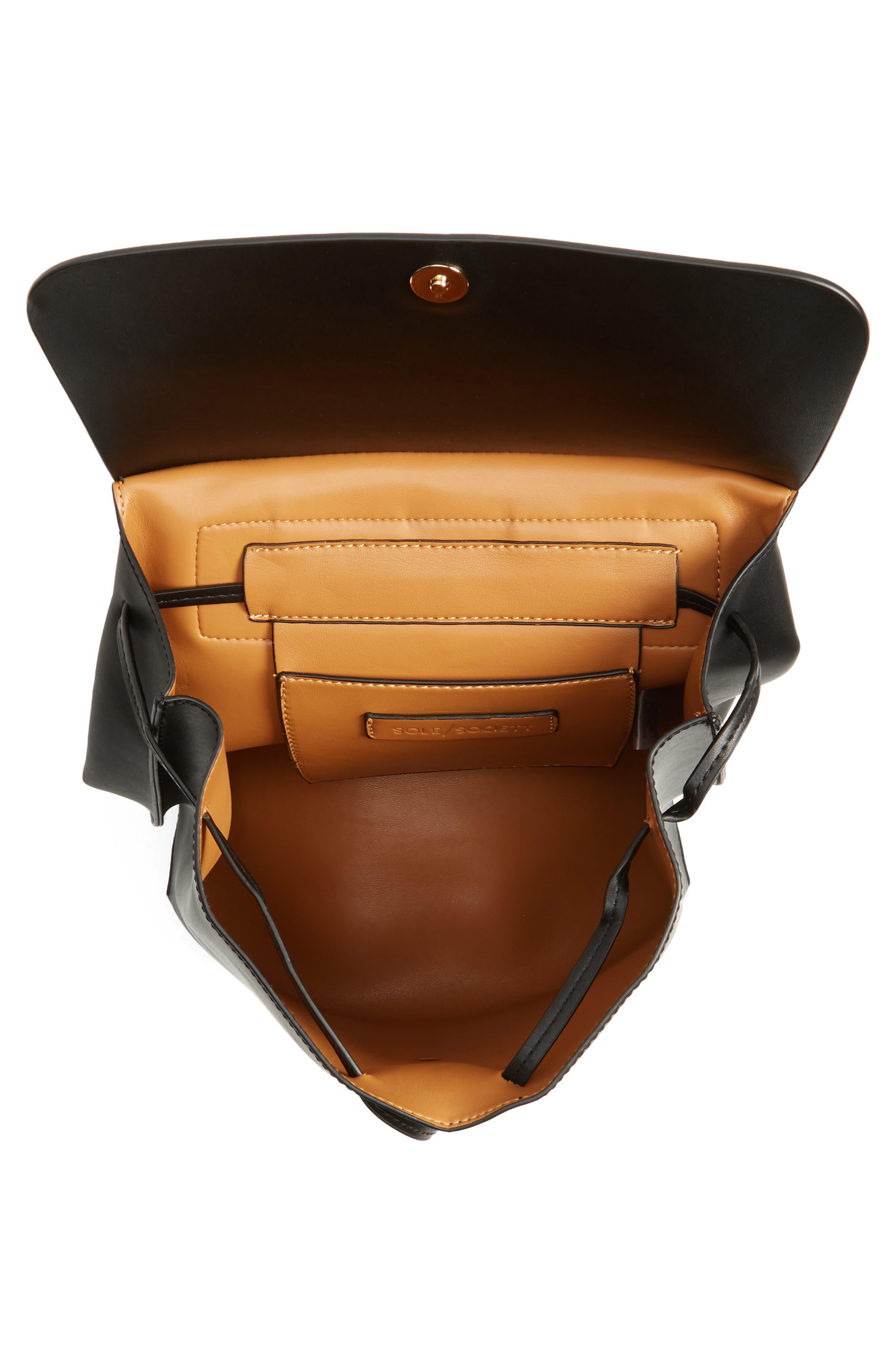Selena Faux Leather Backpack,                             Alternate thumbnail 18, color,