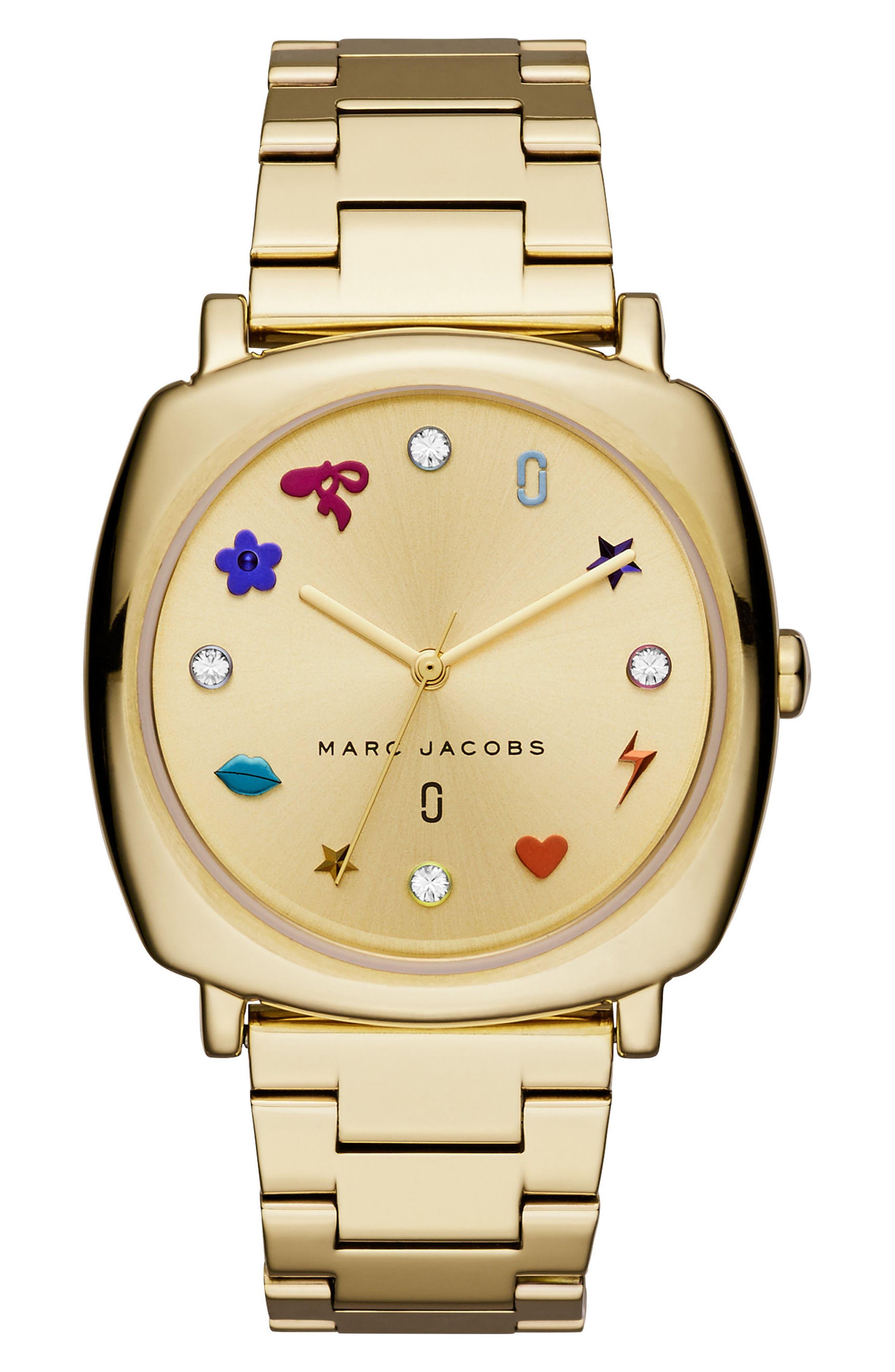 Mandy Bracelet Watch, 34mm,                             Main thumbnail 1, color,                             GOLD