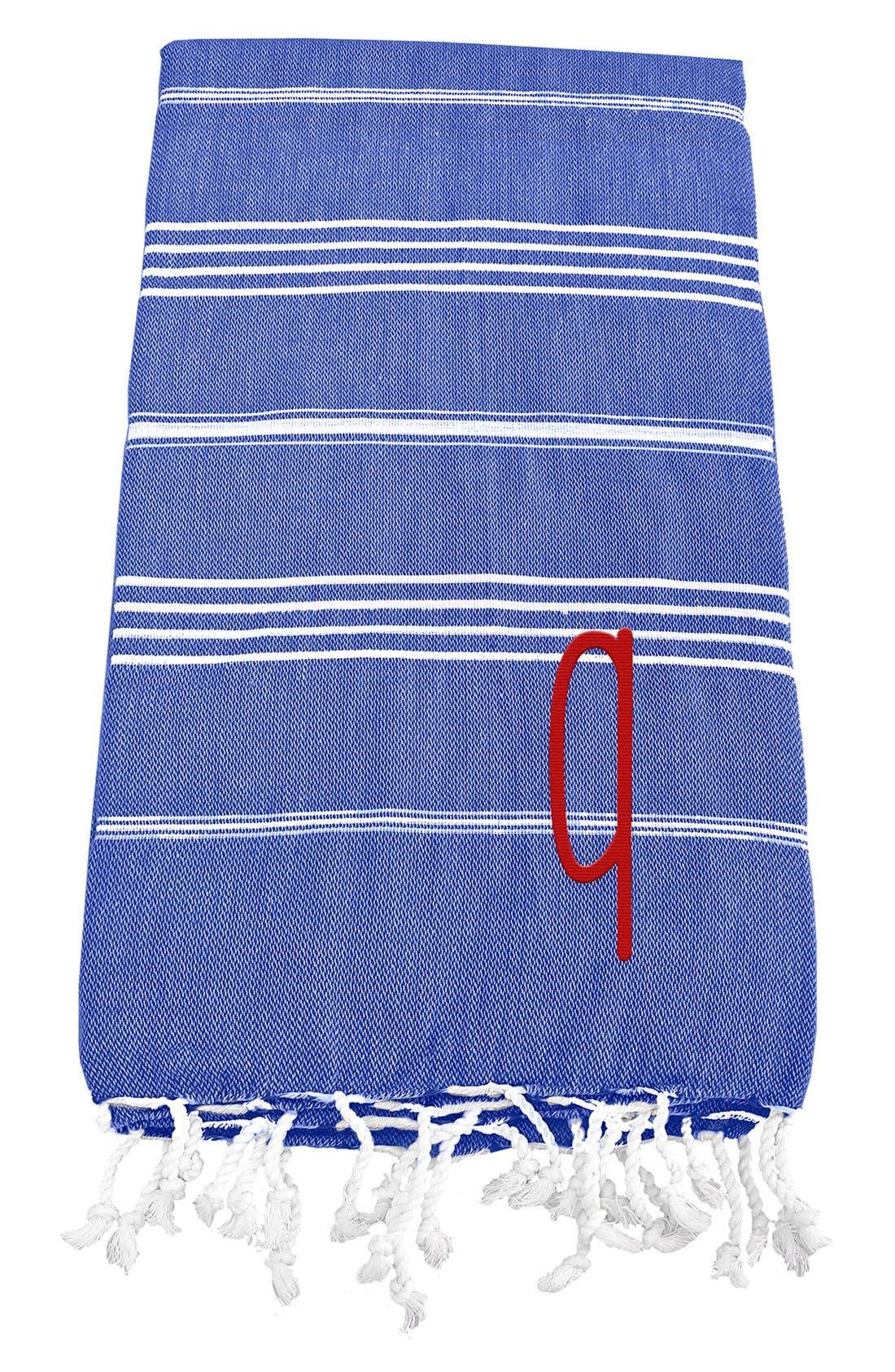 Monogram Turkish Cotton Towel,                             Main thumbnail 73, color,