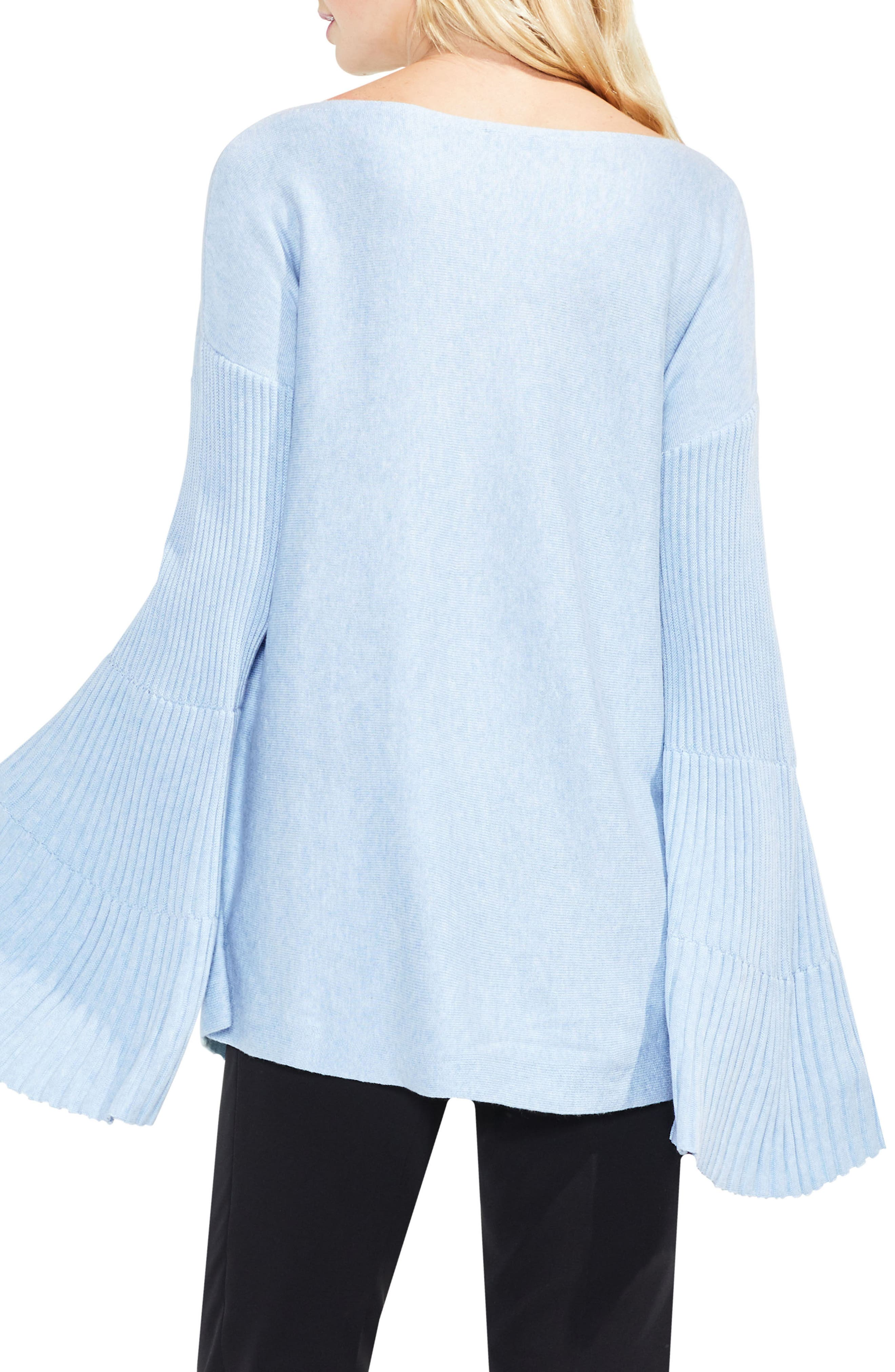Bell Sleeve Ribbed Sweater,                             Alternate thumbnail 16, color,