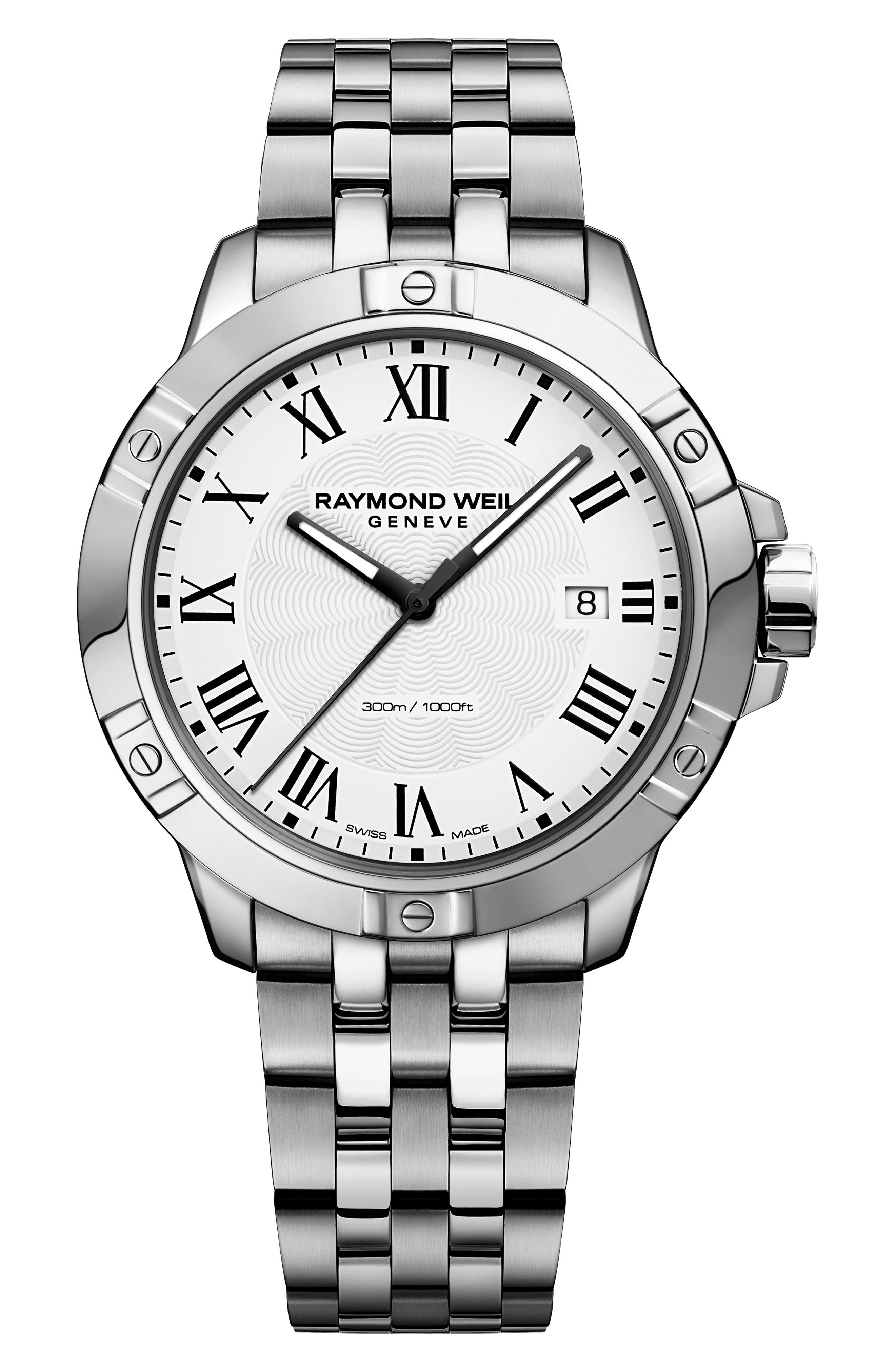 Tango Bracelet Watch, 41mm,                         Main,                         color, SILVER/ WHITE/ SILVER