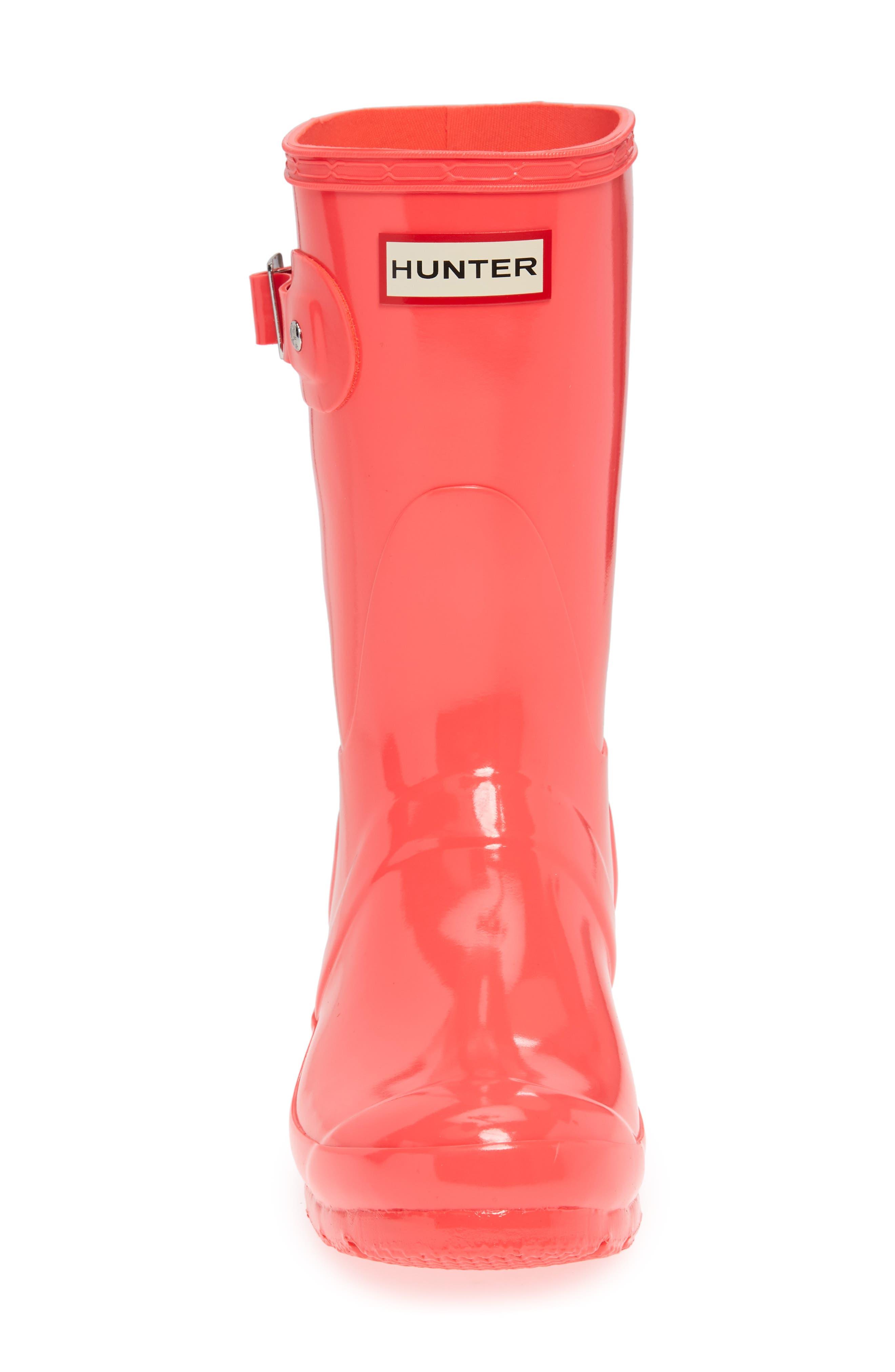 Original Short Gloss Rain Boot,                             Alternate thumbnail 5, color,                             HYPER PINK