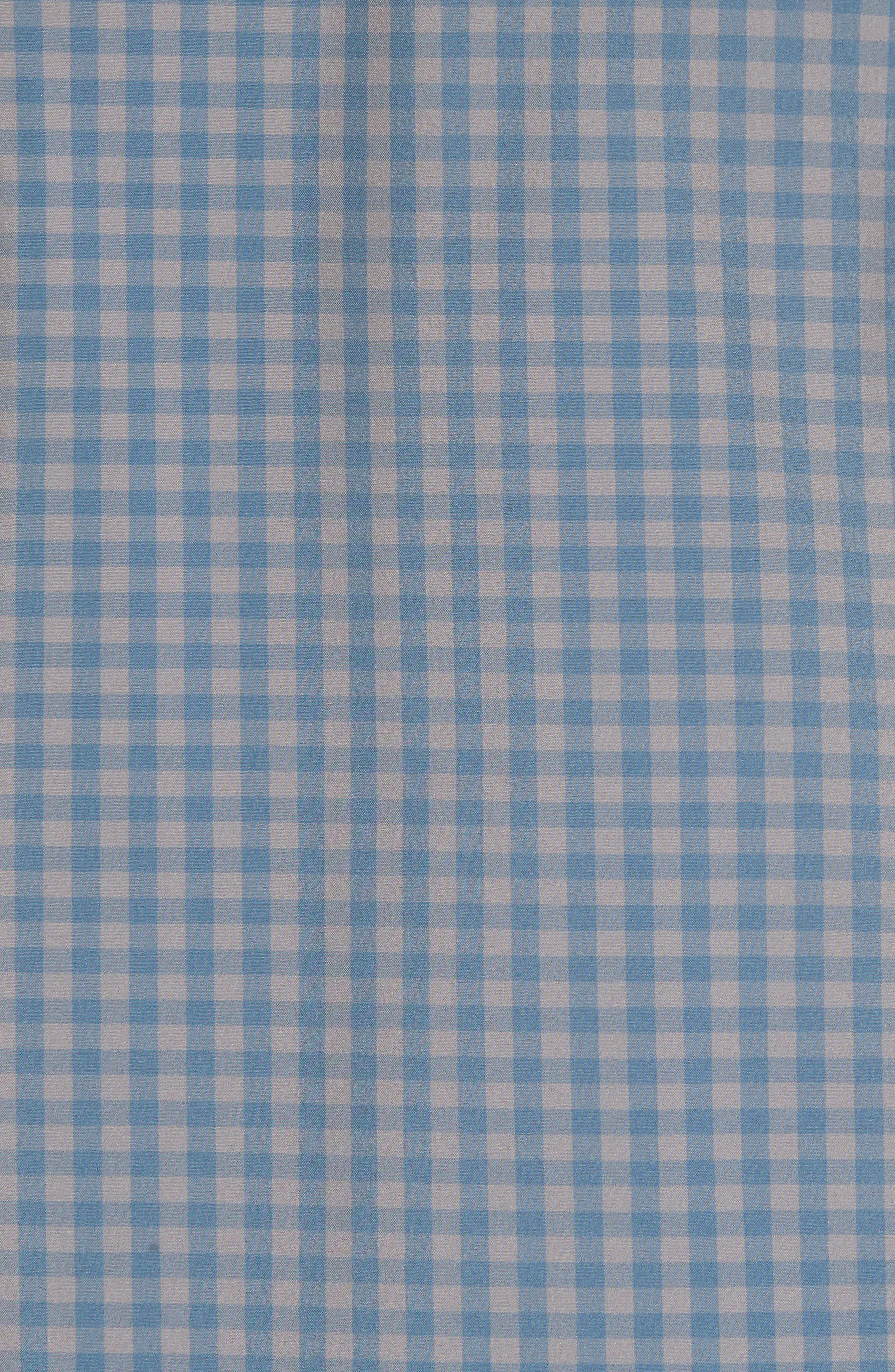 Knox Blue Smoke & Grey Gingham Sport Shirt,                             Alternate thumbnail 5, color,                             400