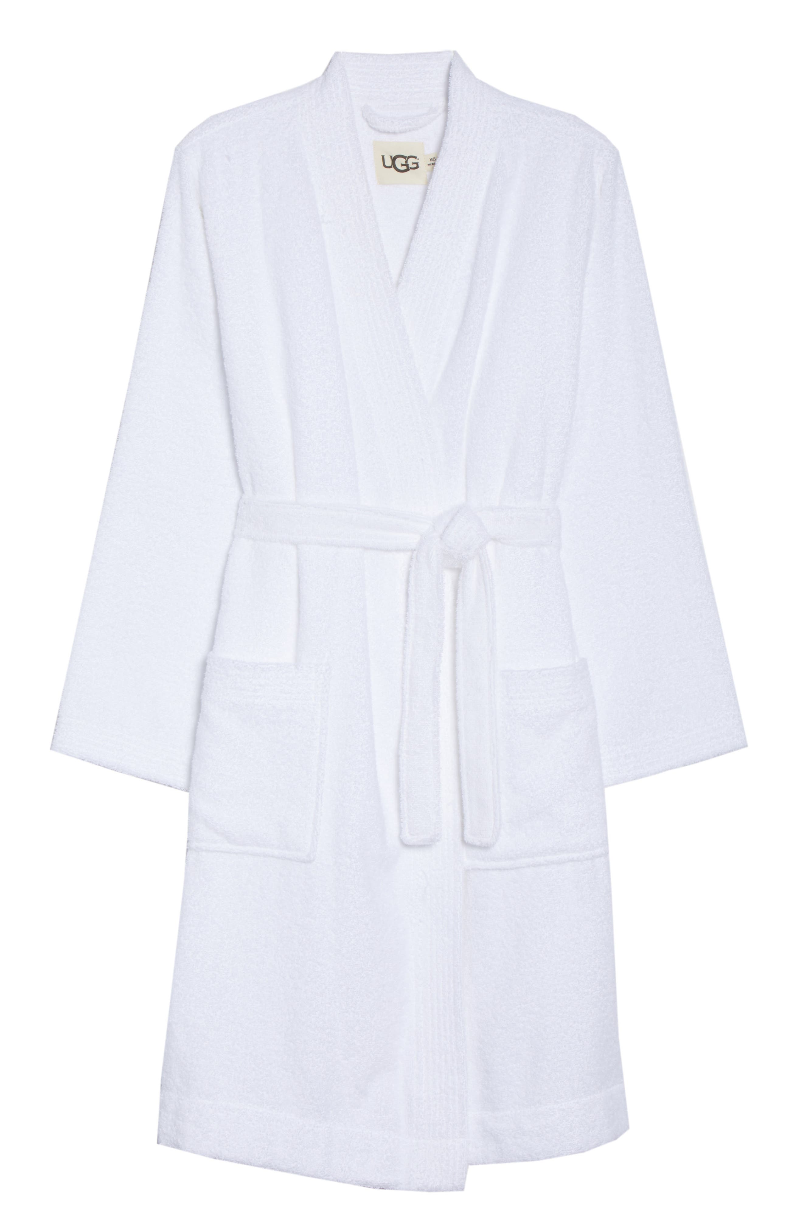 Lorie Terry Short Robe,                             Alternate thumbnail 6, color,                             WHITE