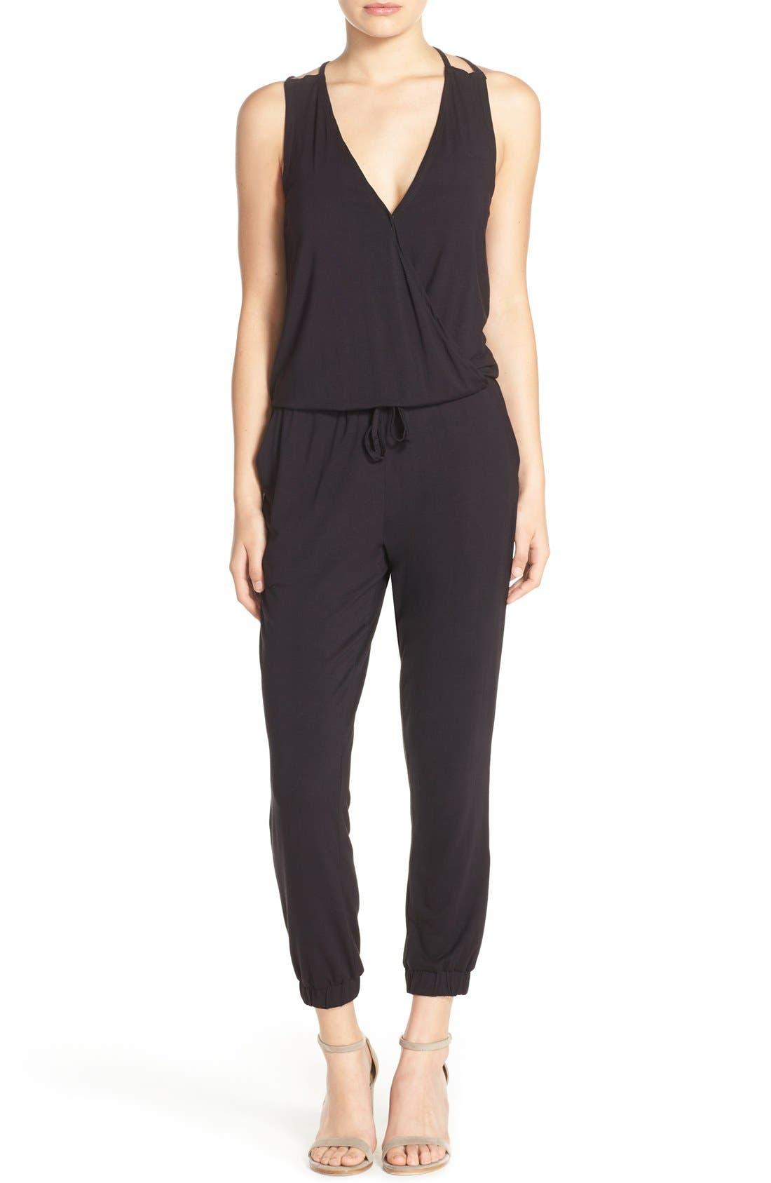 'Milligan' Sleeveless Jumpsuit,                         Main,                         color, 001