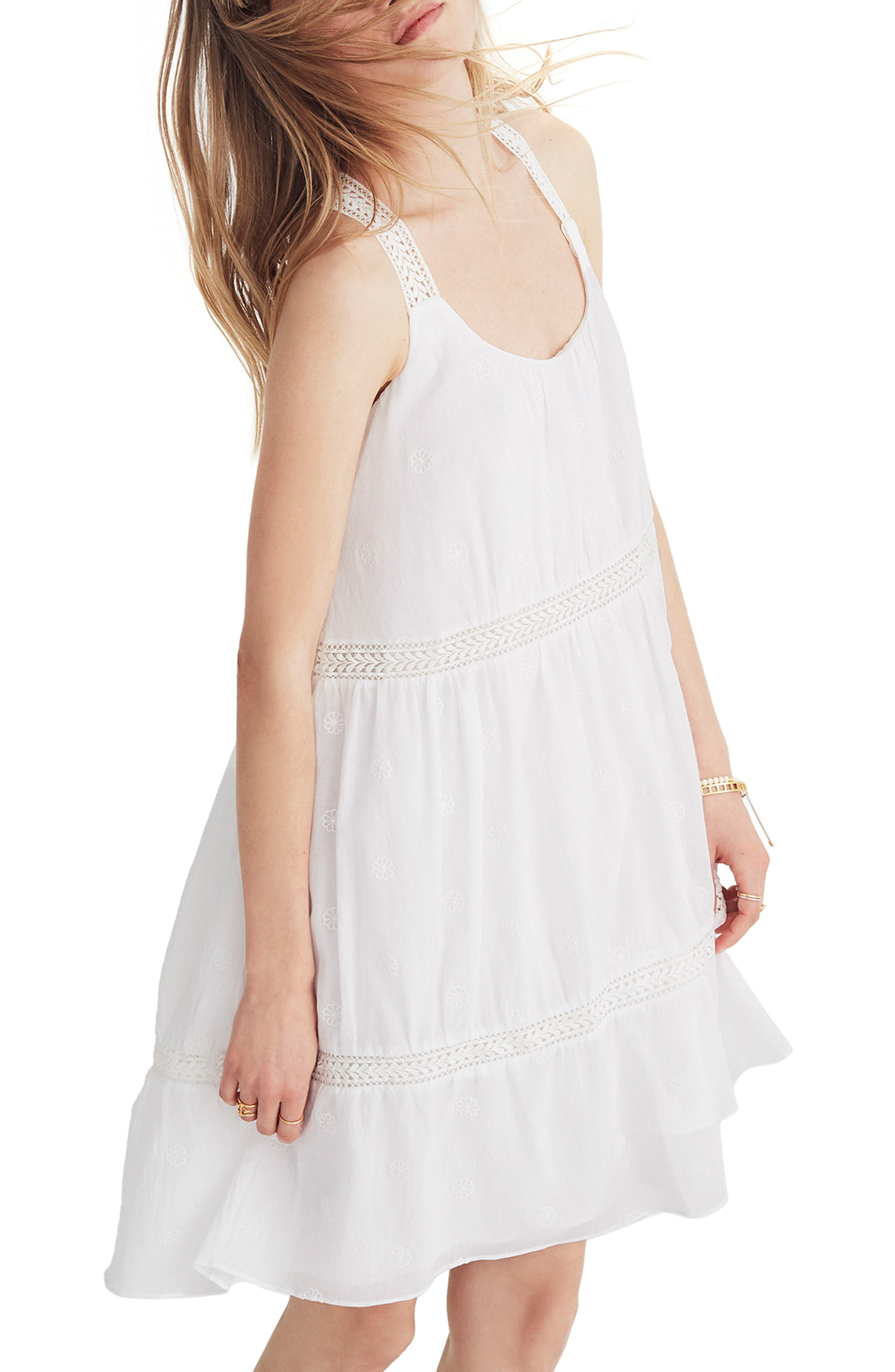 Embroidered Honeysuckle Dress,                         Main,                         color, 100