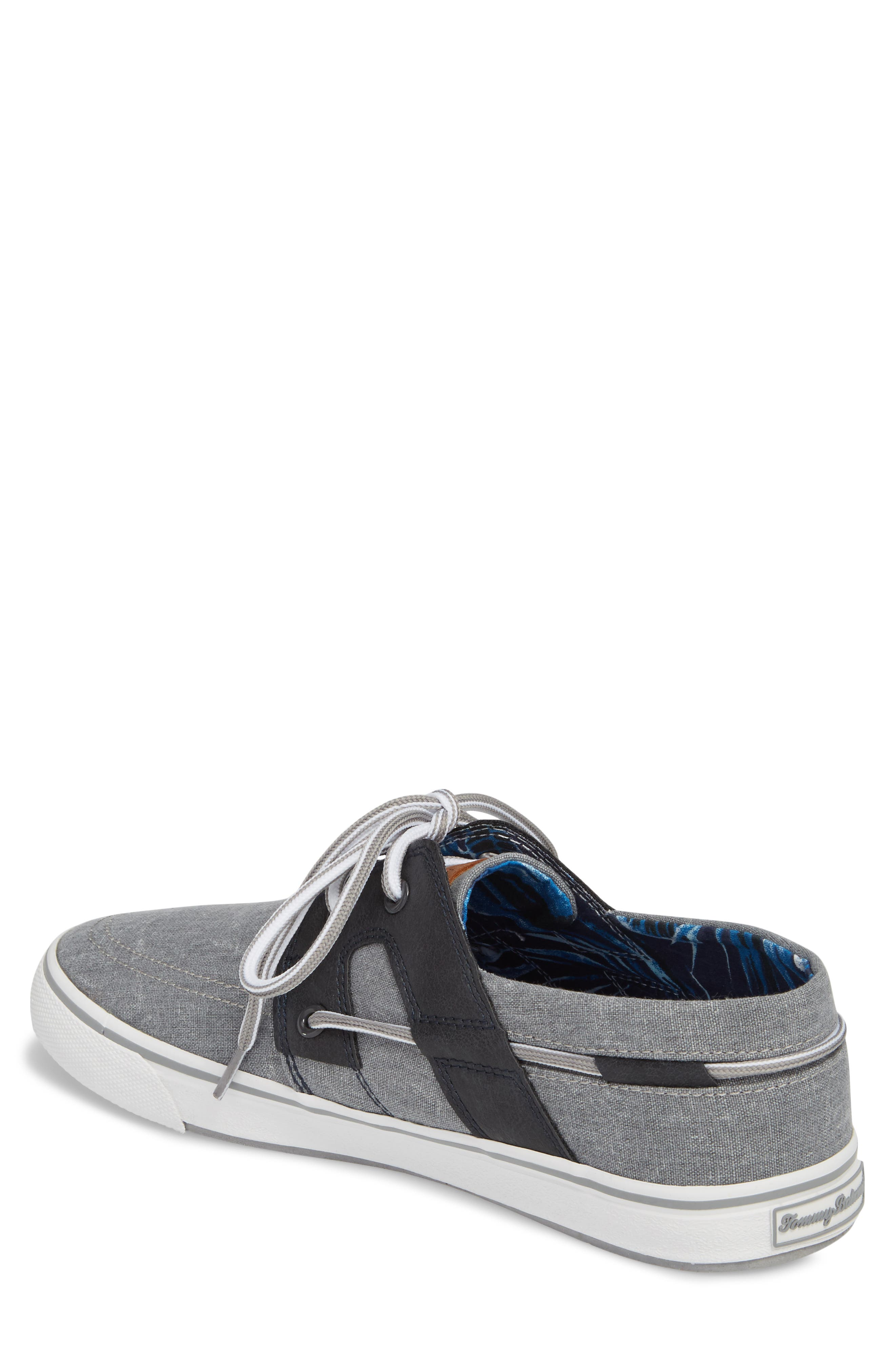 Stripe Breaker Sneaker,                             Alternate thumbnail 2, color,                             GREY/ BLACK LINEN/ LEATHER