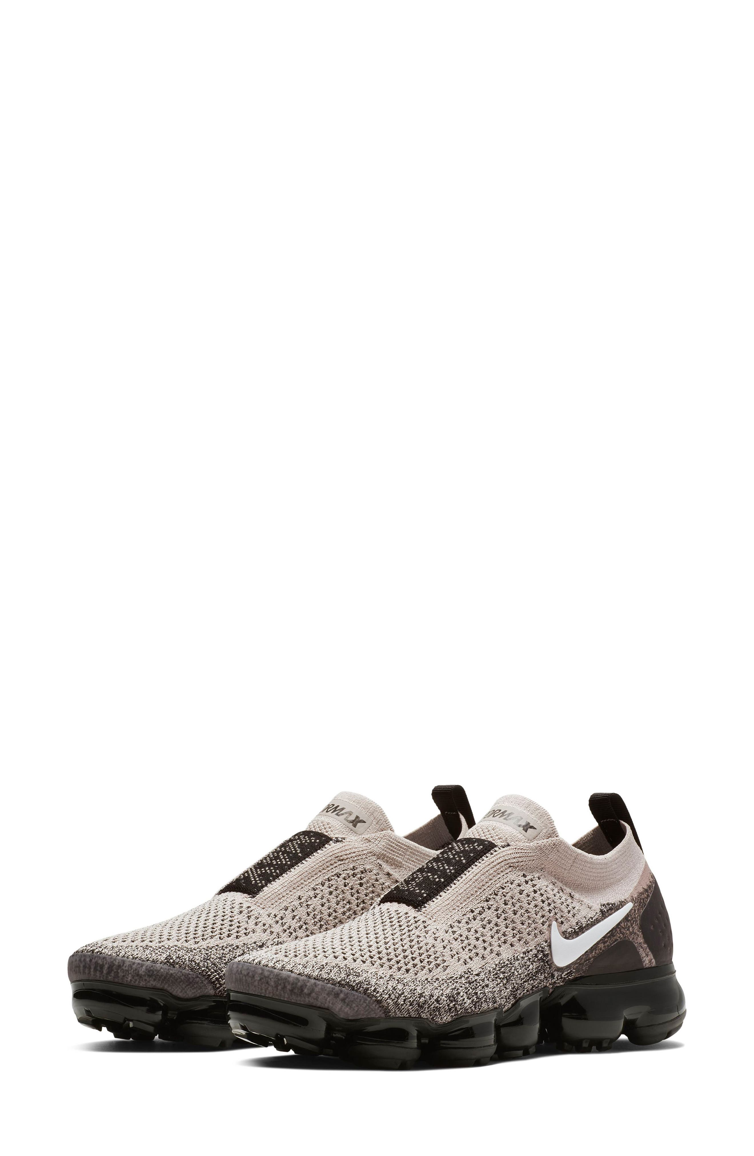 Air VaporMax Flyknit MOC 2 Running Shoe,                         Main,                         color, MOON PARTICLE/ WHITE/ BLACK