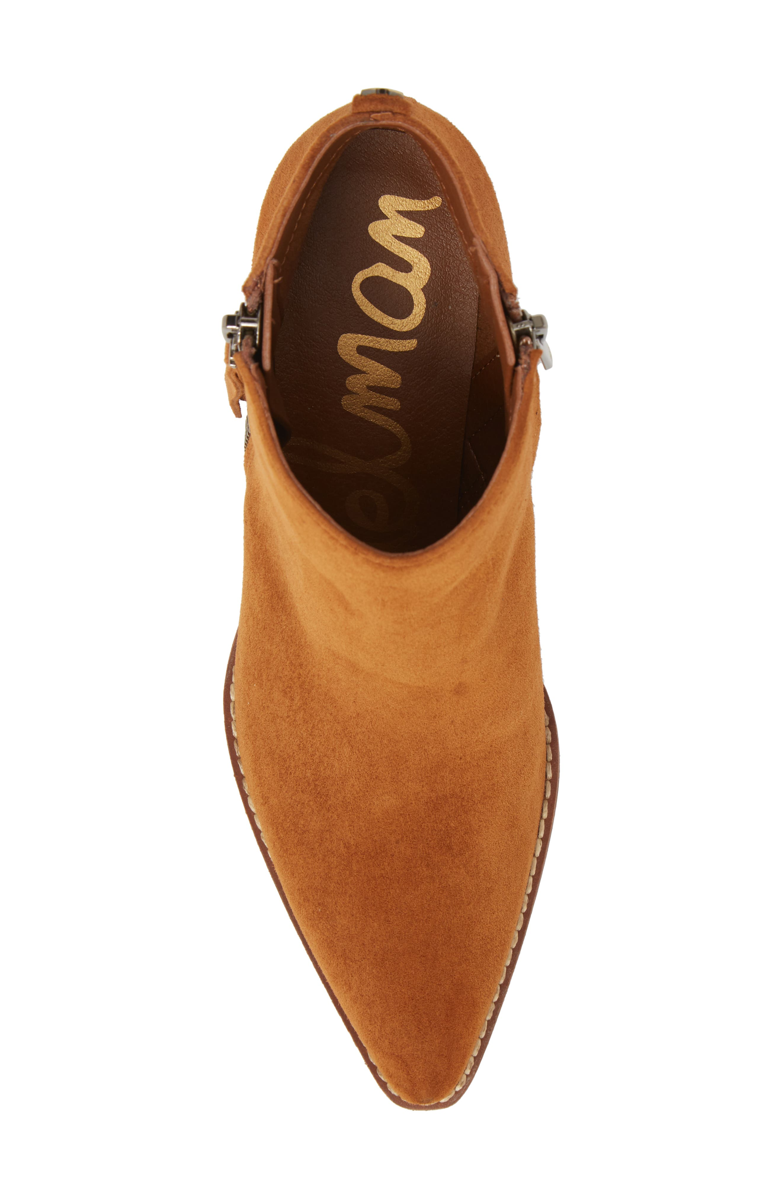 Walden Bootie,                             Alternate thumbnail 5, color,                             LUGGAGE SUEDE
