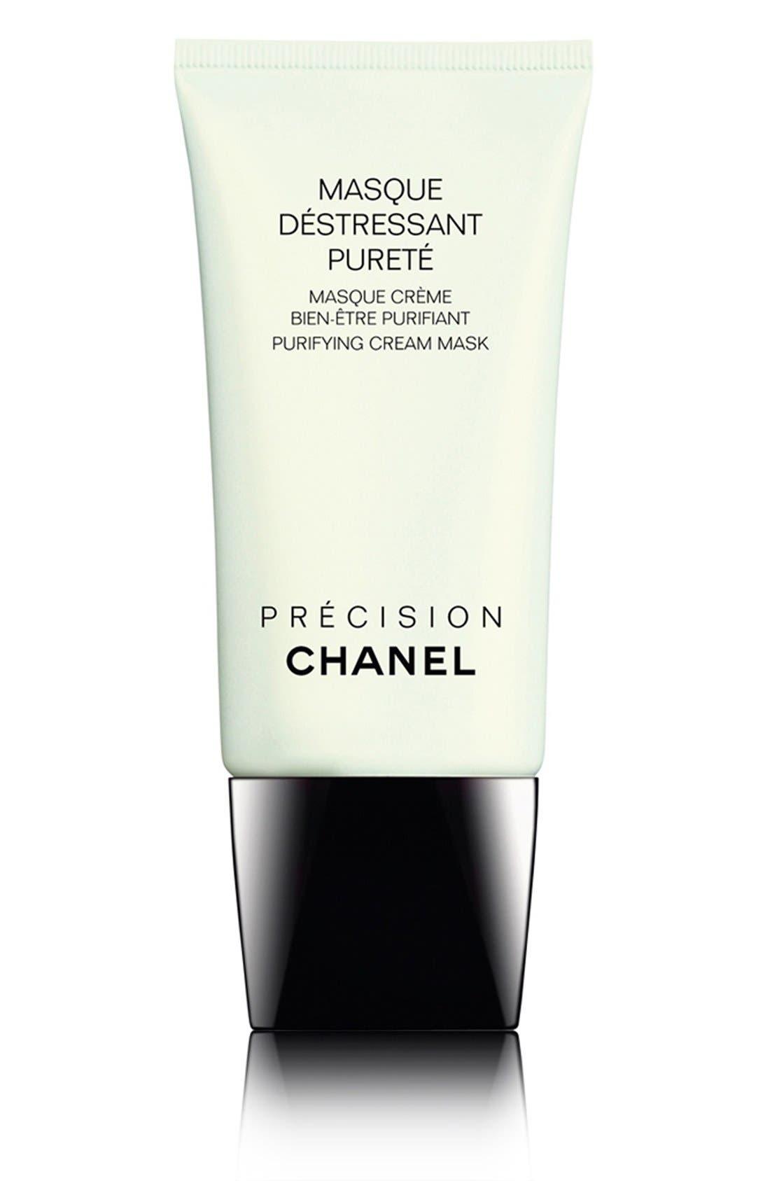 CHANEL,                             MASQUE DÉSTRESSANT PURETÉ Purifying Cream Mask,                             Main thumbnail 1, color,                             NO COLOR