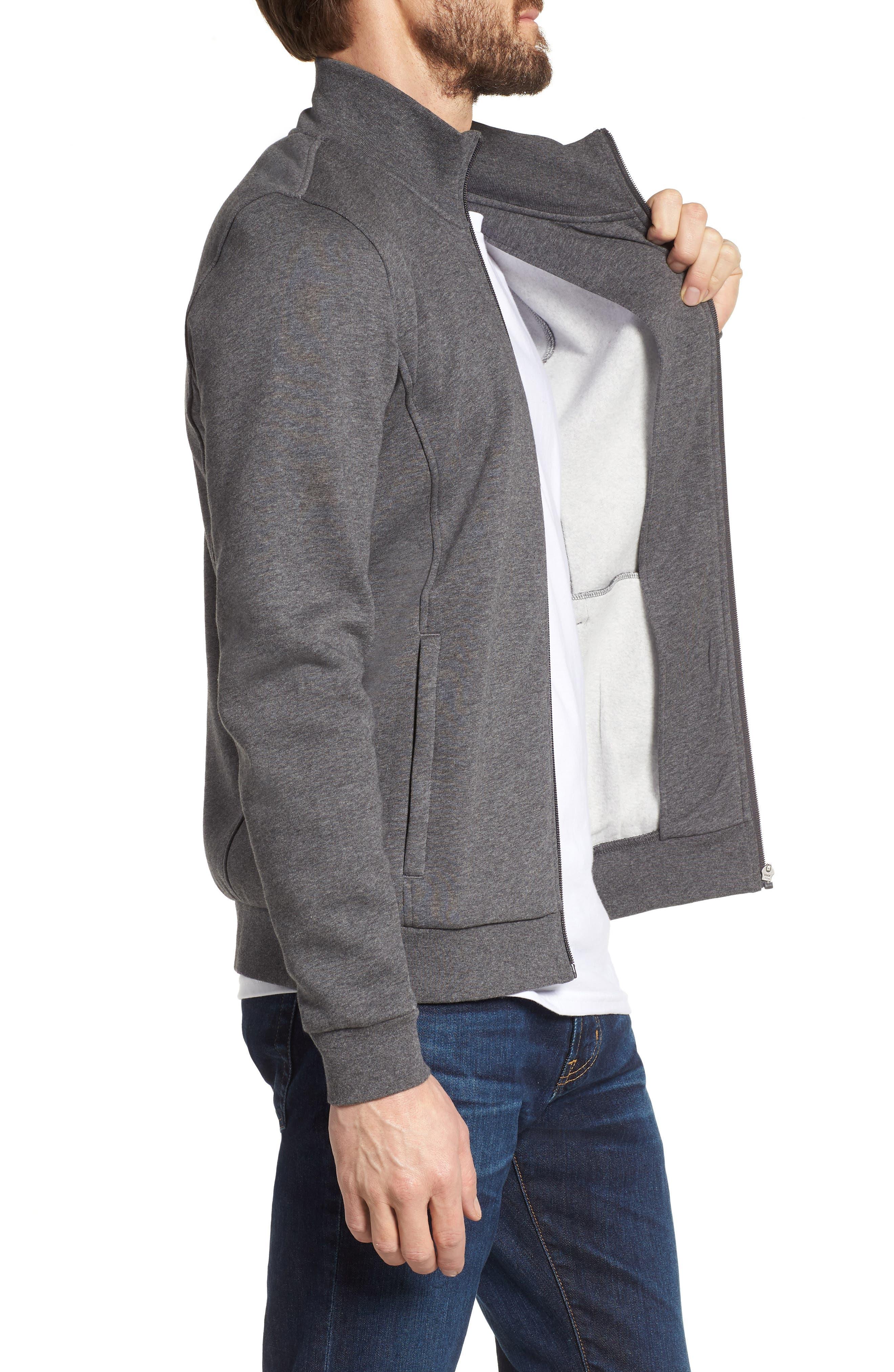 Fleece Zip Jacket,                             Alternate thumbnail 9, color,