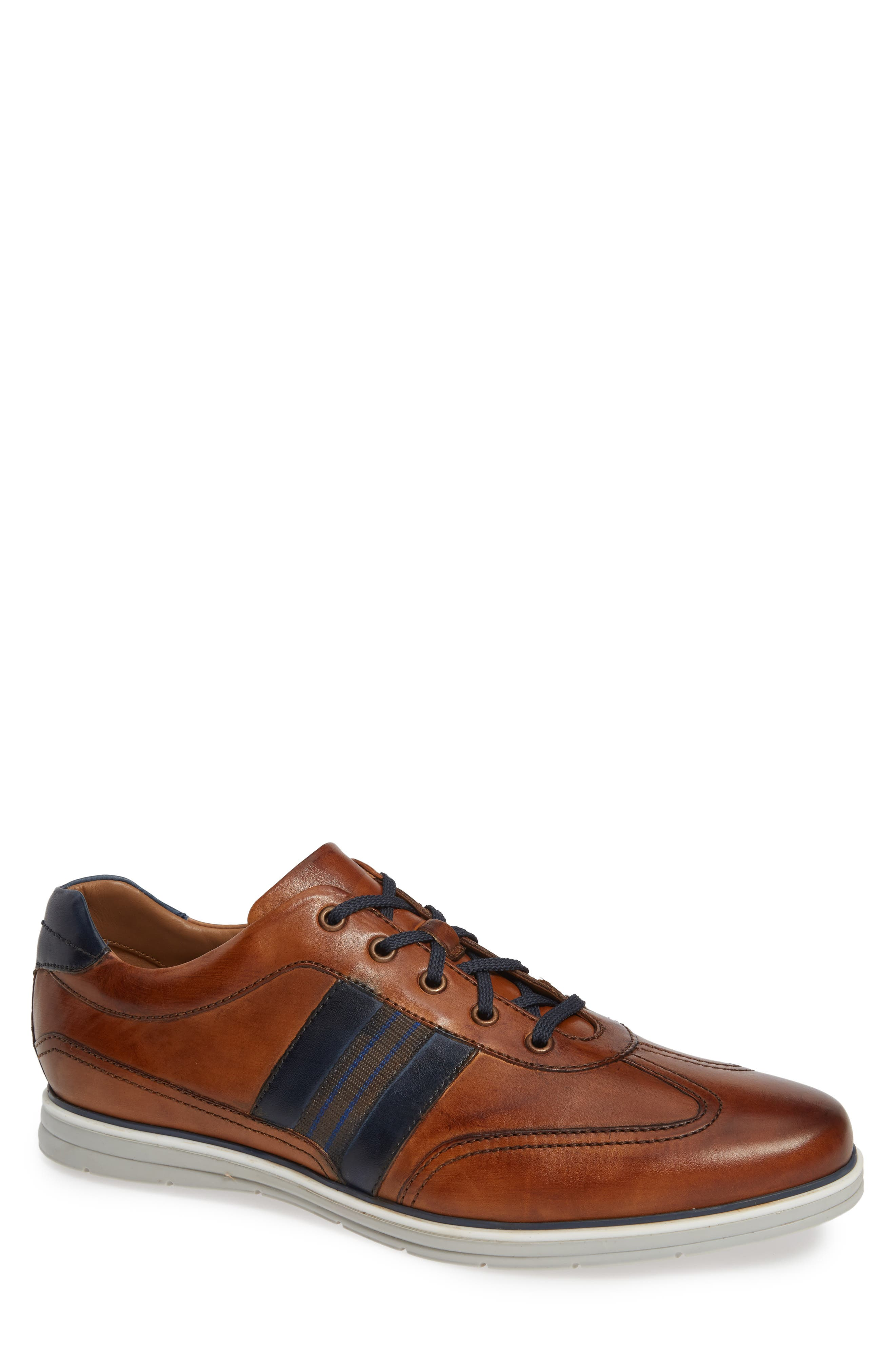 Turbo Low Top Sneaker,                         Main,                         color, COGNAC LEATHER