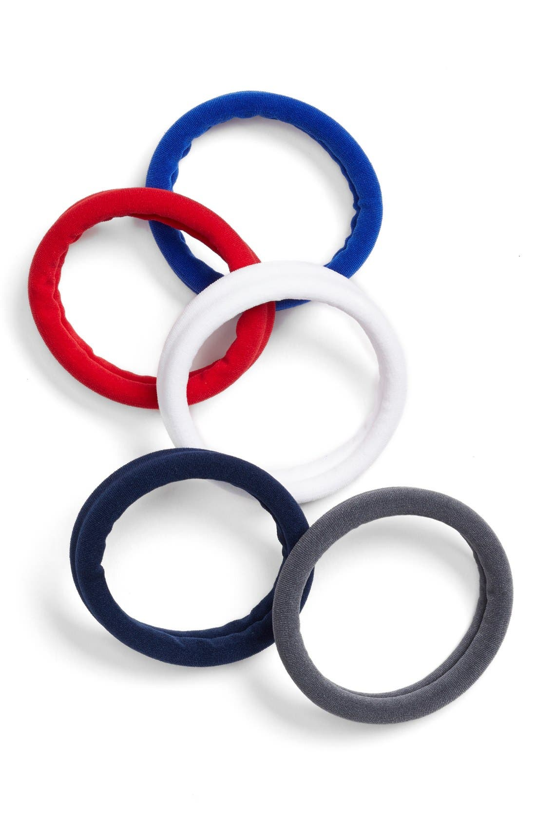 Set of 5 Sport Ponytail Holders,                             Main thumbnail 4, color,