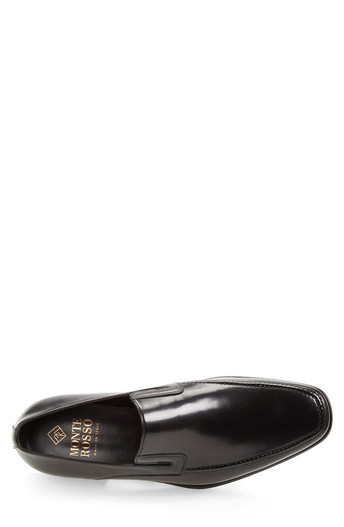 Lucca Nappa Leather Loafer,                             Alternate thumbnail 7, color,                             BLACK