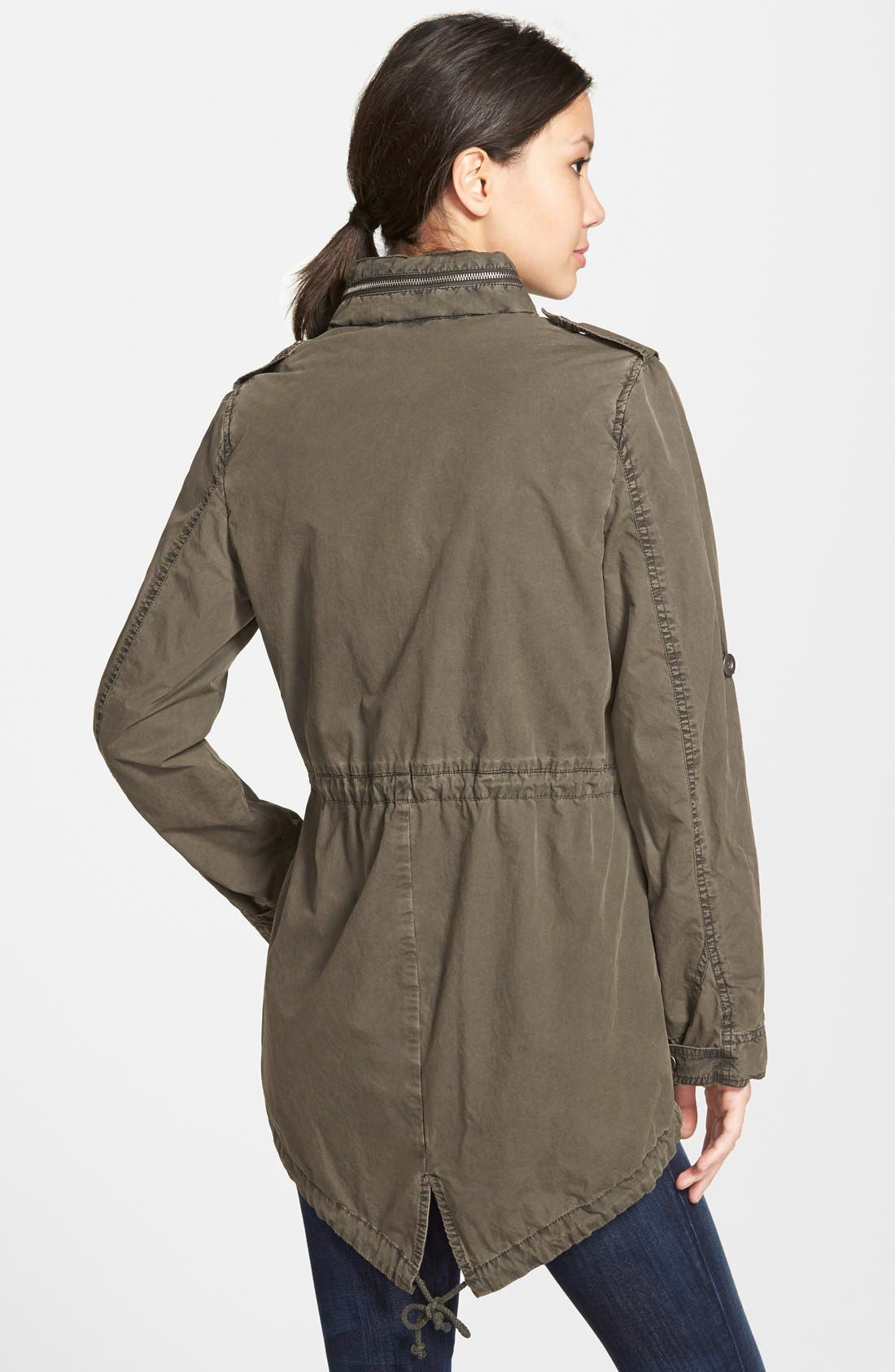 Lightweight Cotton Hooded Utility Jacket,                             Alternate thumbnail 6, color,