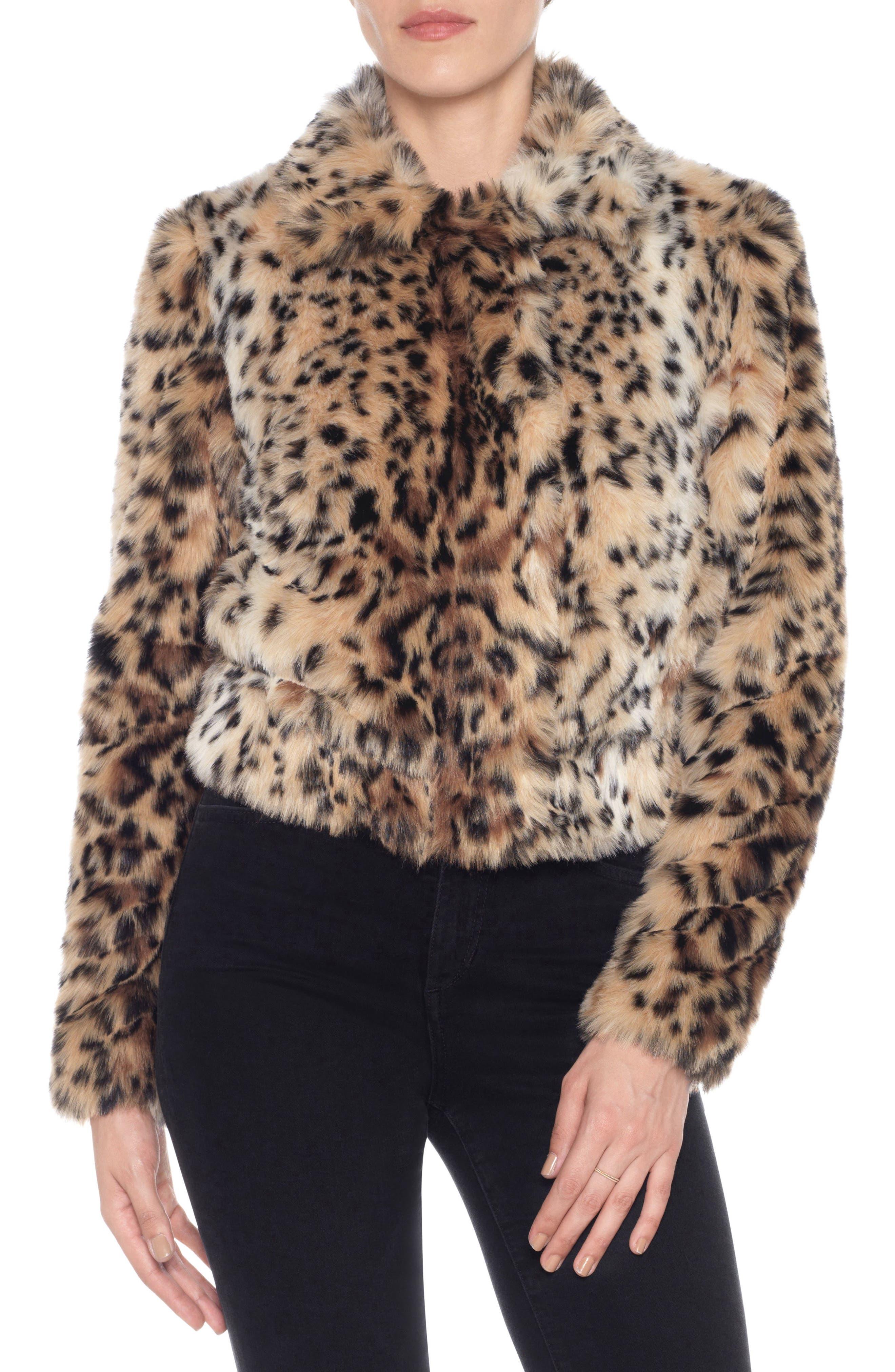 Kate Faux Fur Jacket,                             Main thumbnail 1, color,                             011