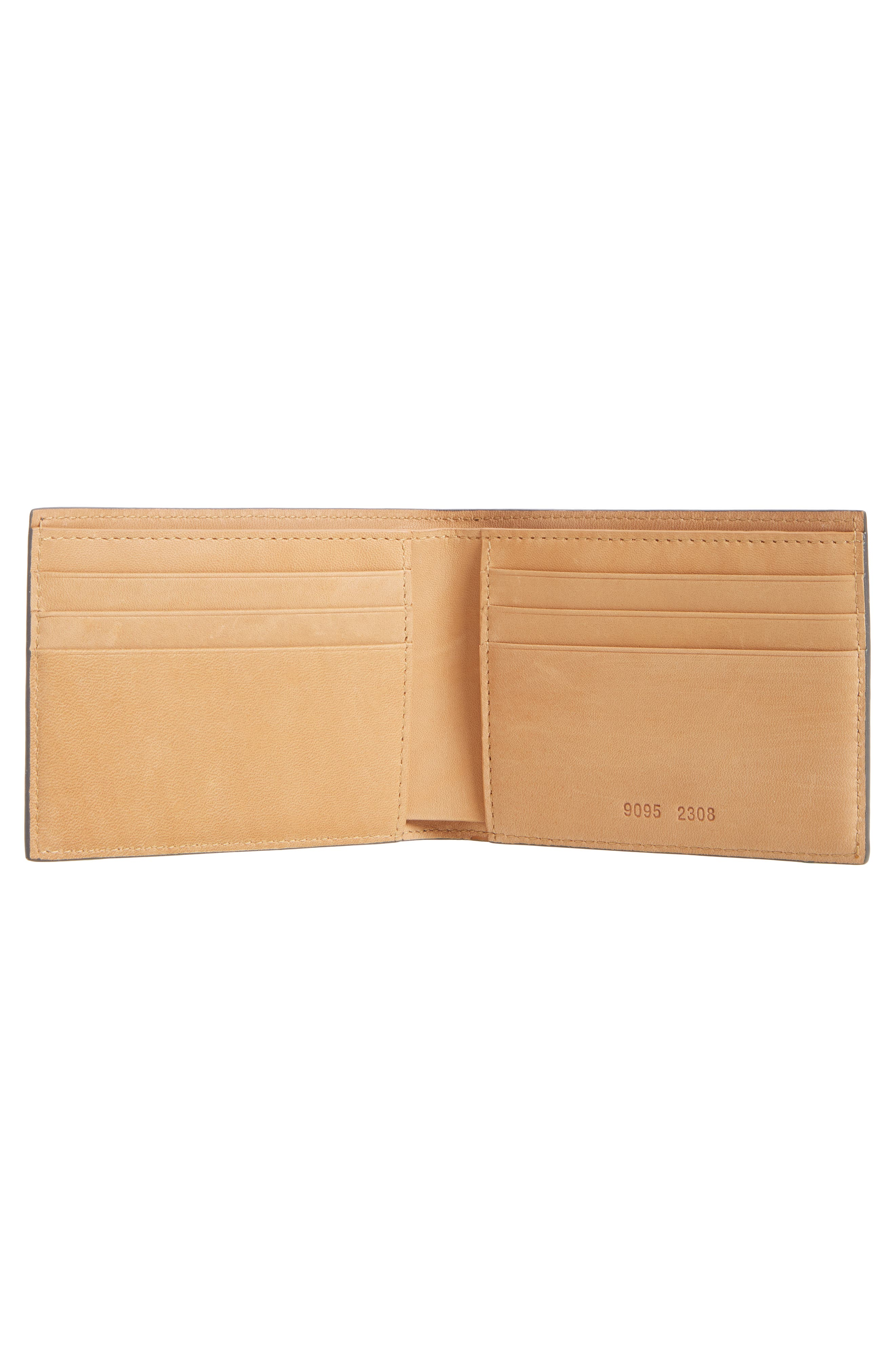 Leather Wallet,                             Alternate thumbnail 2, color,                             BLUE/ GREY