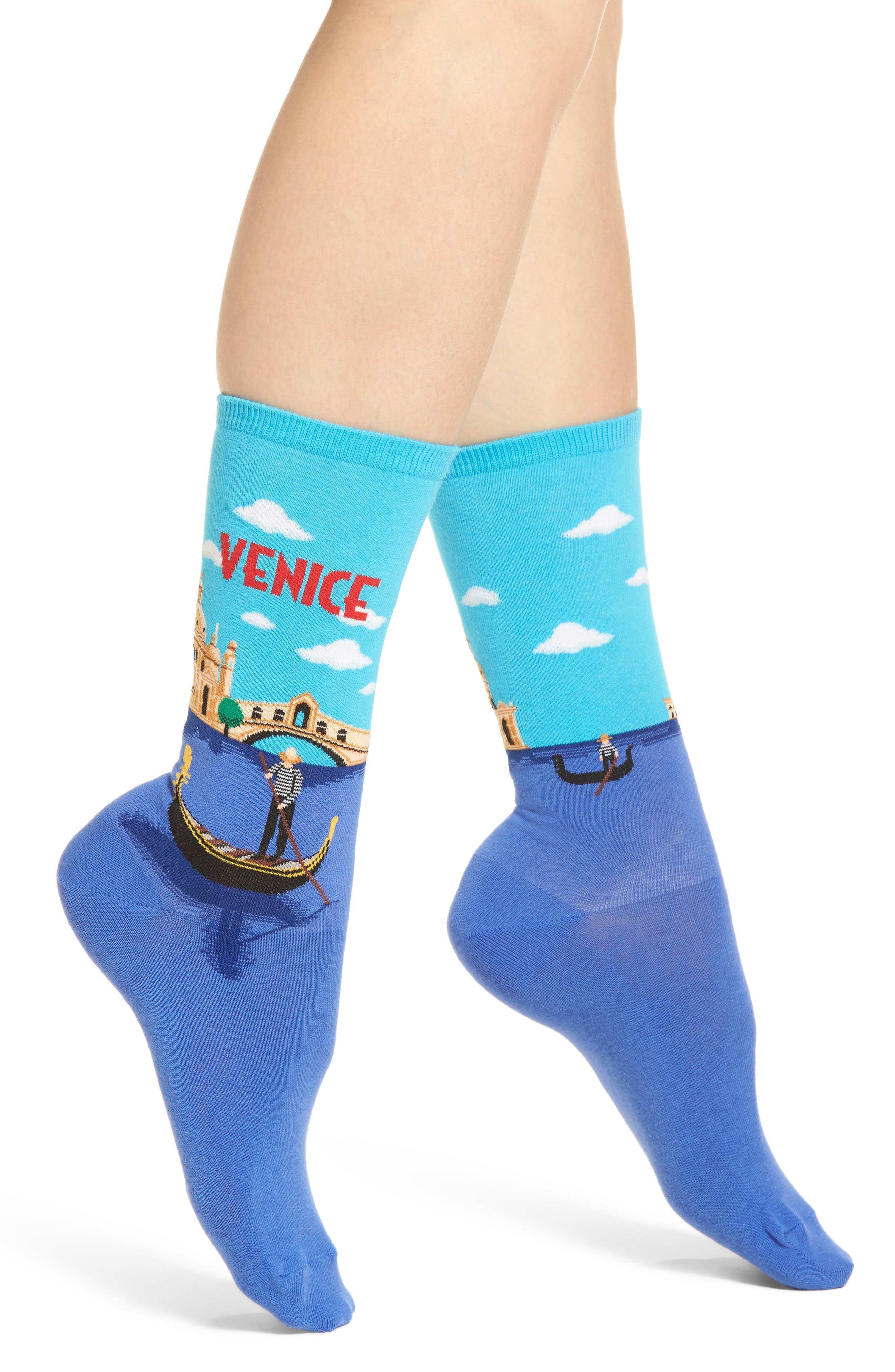 Travel Series - Venice Crew Socks,                             Main thumbnail 1, color,                             468