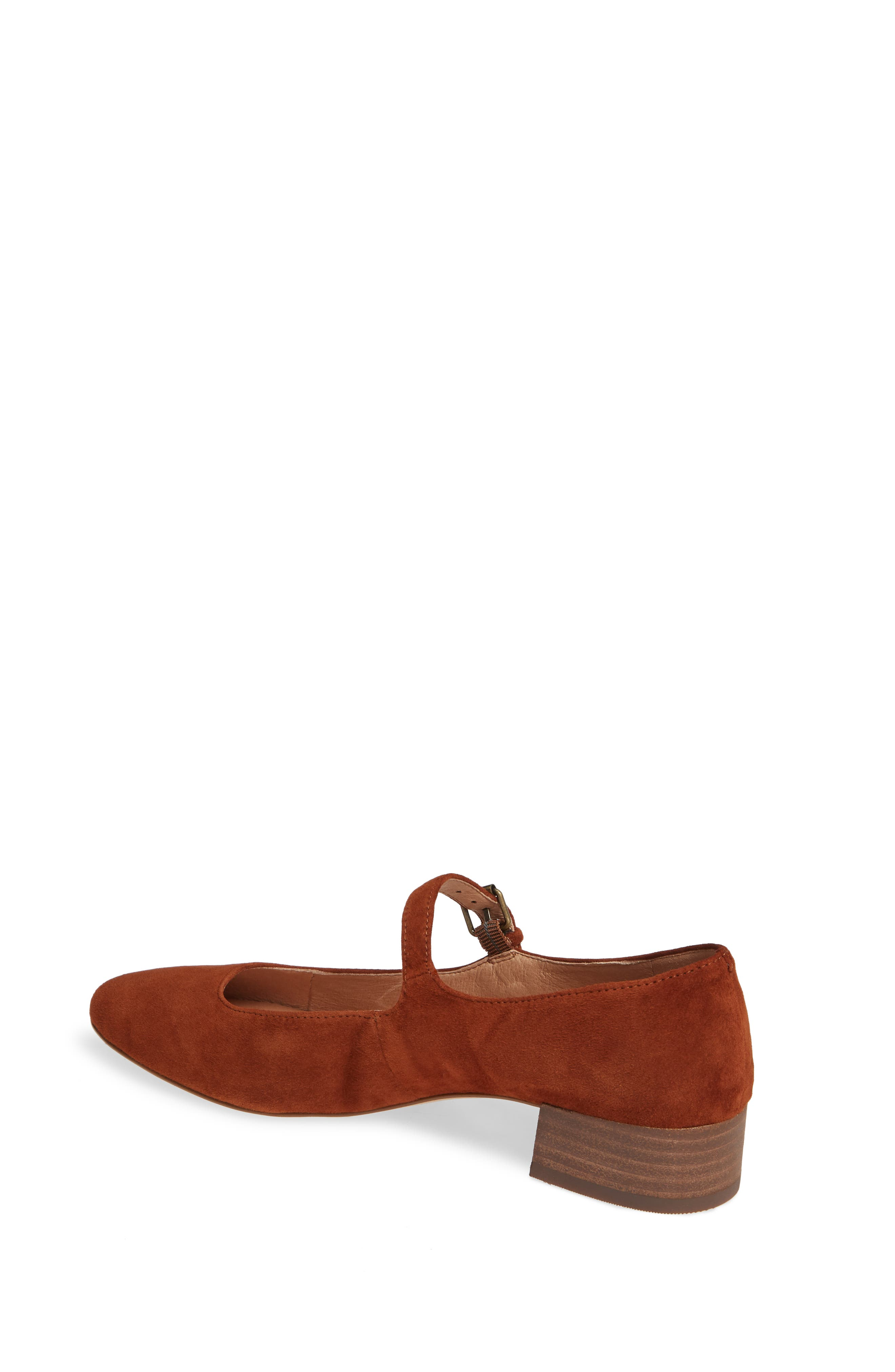 The Delilah Mary Jane Pump,                             Alternate thumbnail 2, color,                             MAPLE SYRUP SUEDE