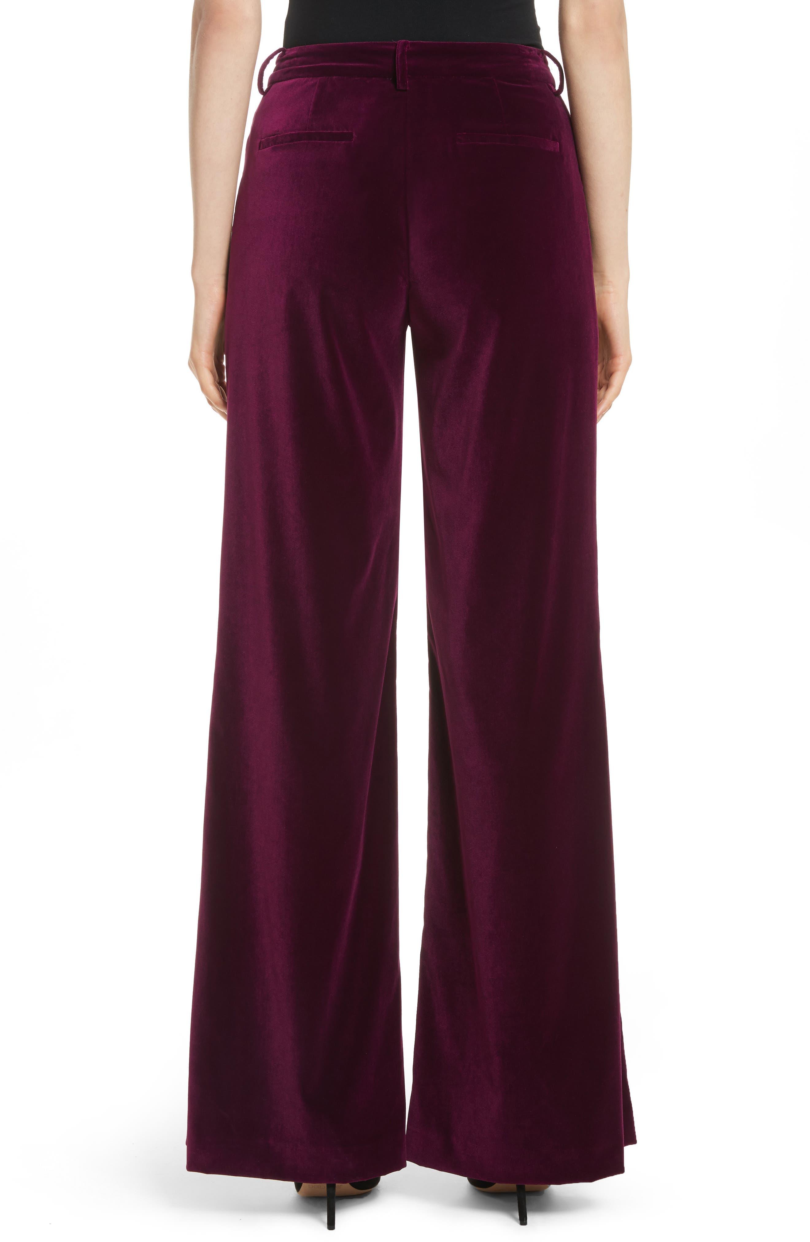 Paulette Velvet Tuxedo Pants,                             Alternate thumbnail 2, color,                             934
