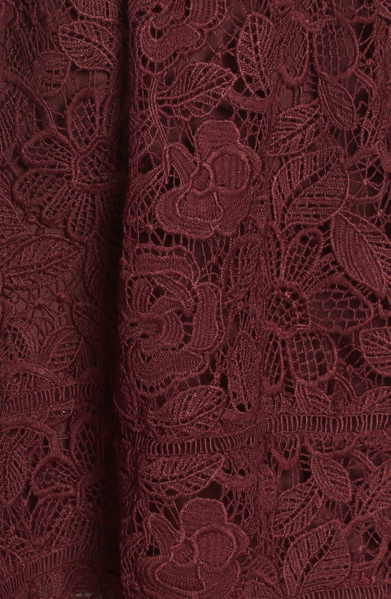 Sutton Lace Fit & Flare Dress,                             Alternate thumbnail 5, color,                             930