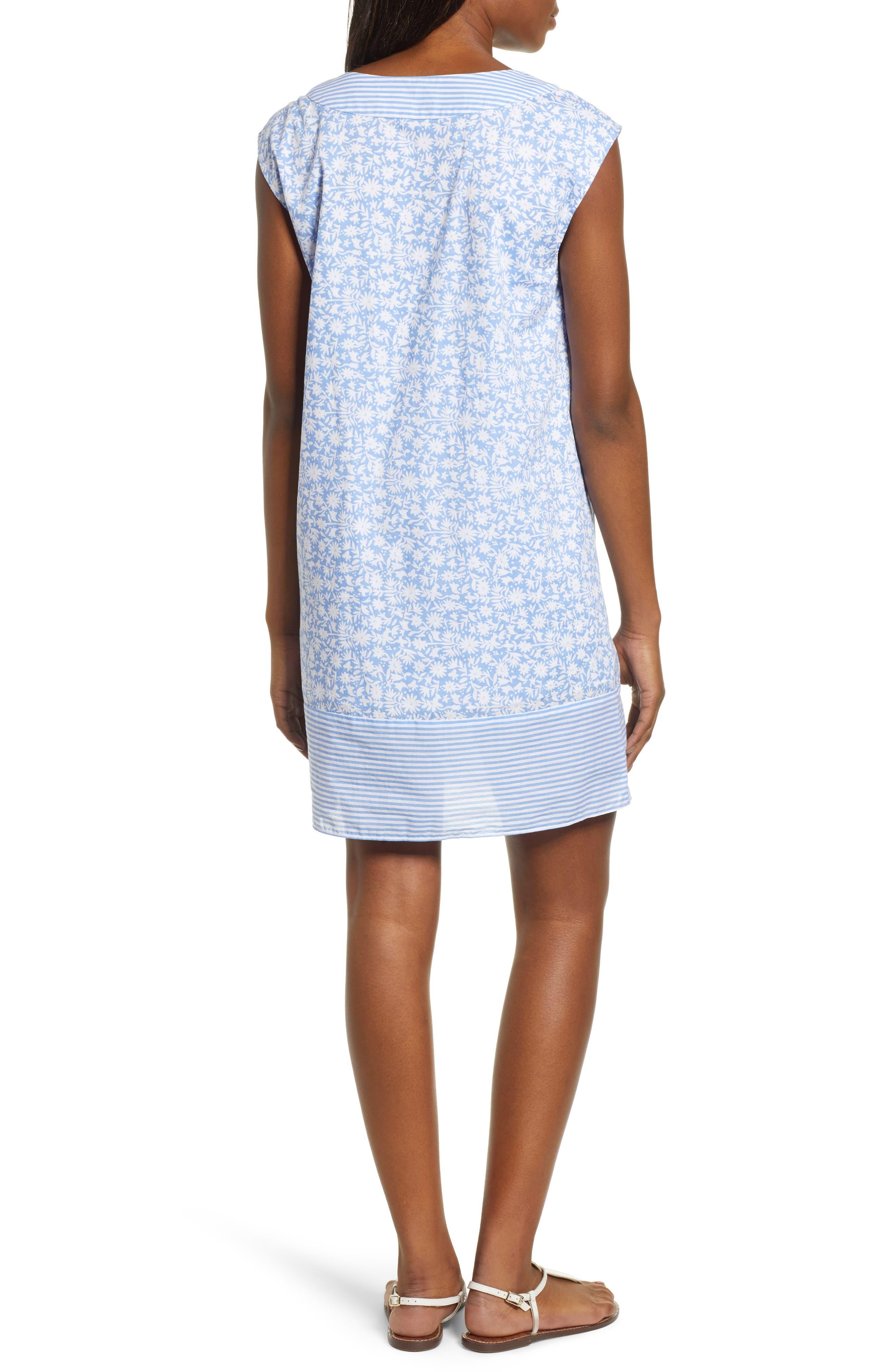Somerset Tunic Dress,                             Alternate thumbnail 2, color,                             HYDRANGEA