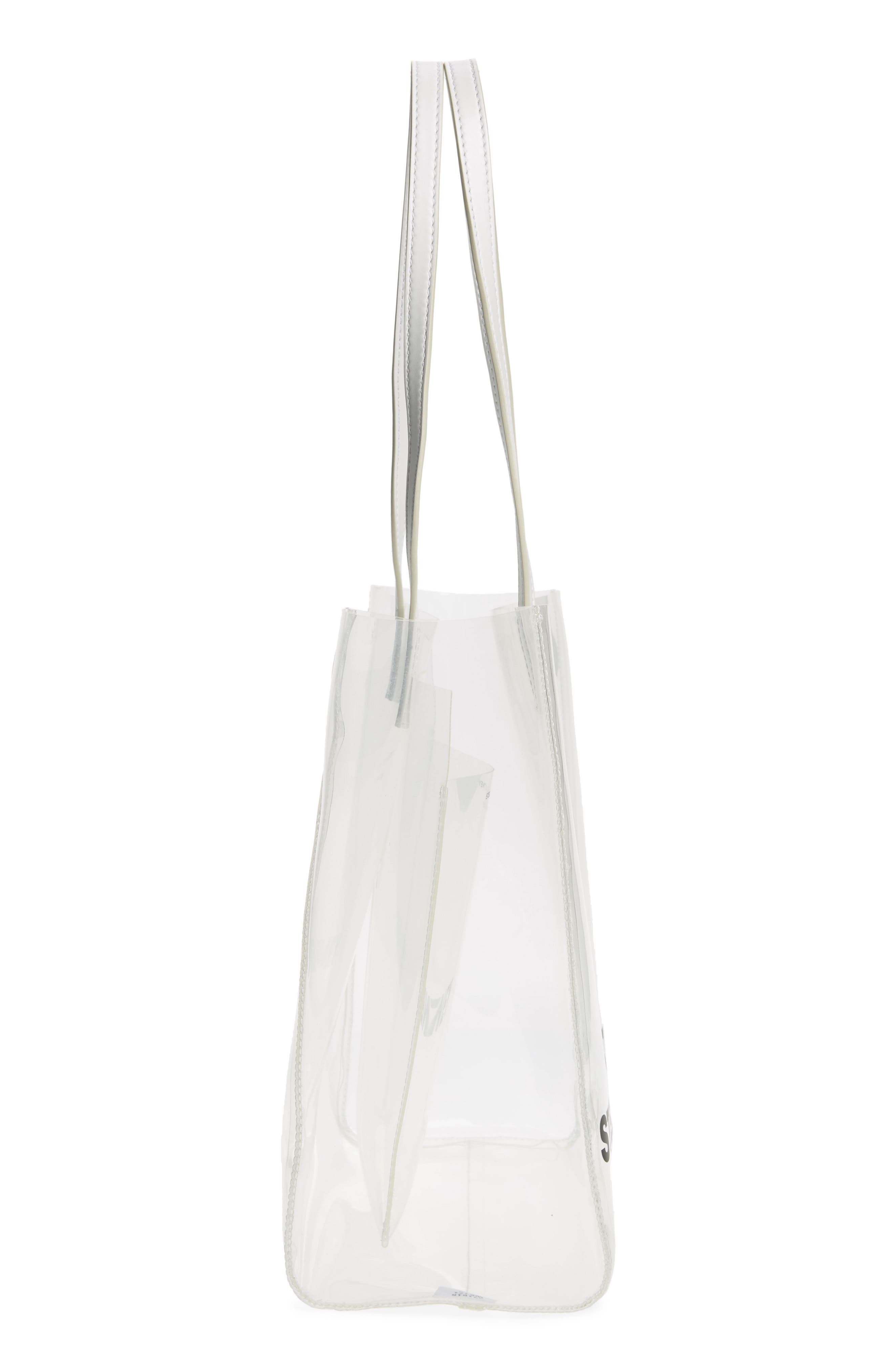 Clear Logo Tote,                             Alternate thumbnail 5, color,                             CLEAR