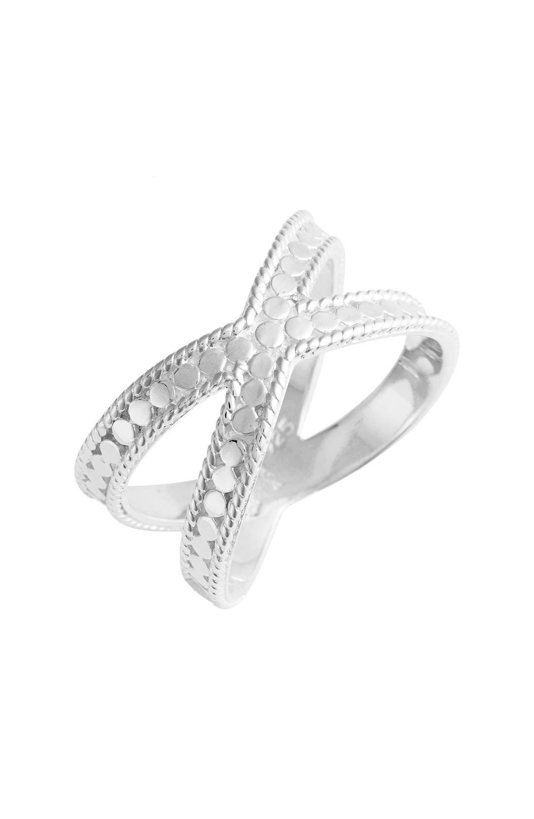 'Gili' Crossover Ring,                         Main,                         color, SILVER