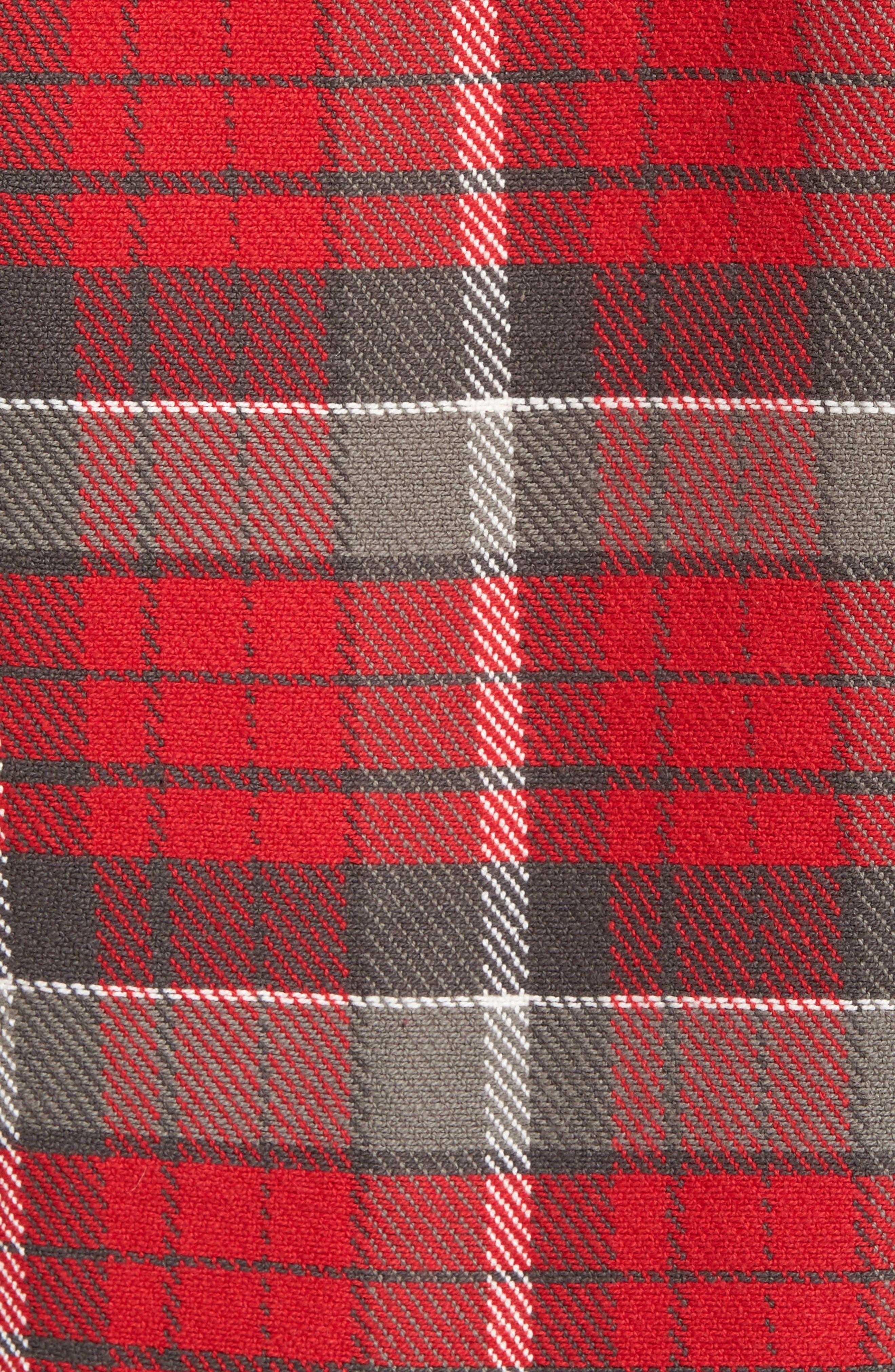 Classic Fit Plaid Flannel Shirt,                             Alternate thumbnail 18, color,