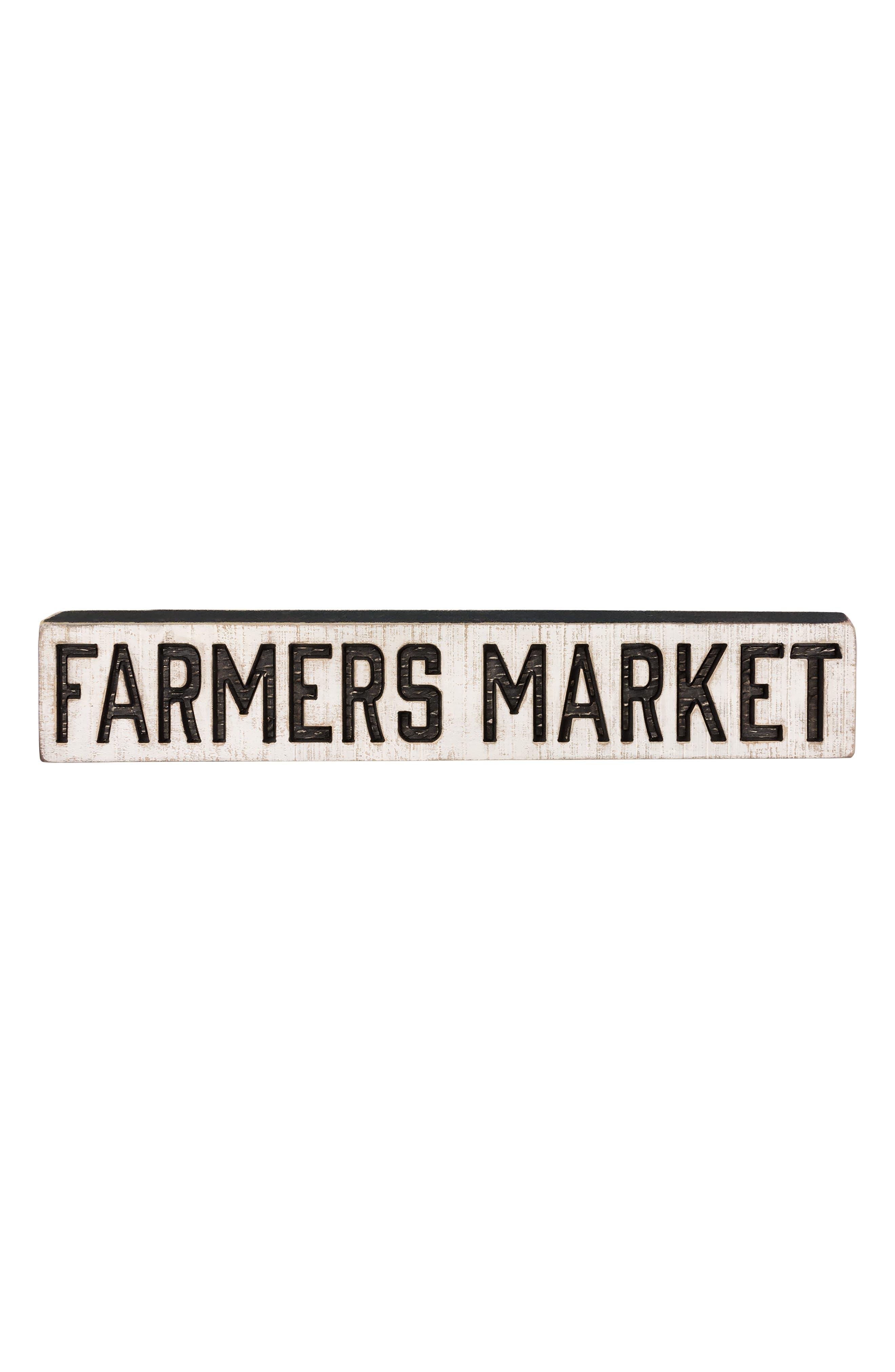Farmers' Market Wooden Sign,                             Alternate thumbnail 2, color,                             100