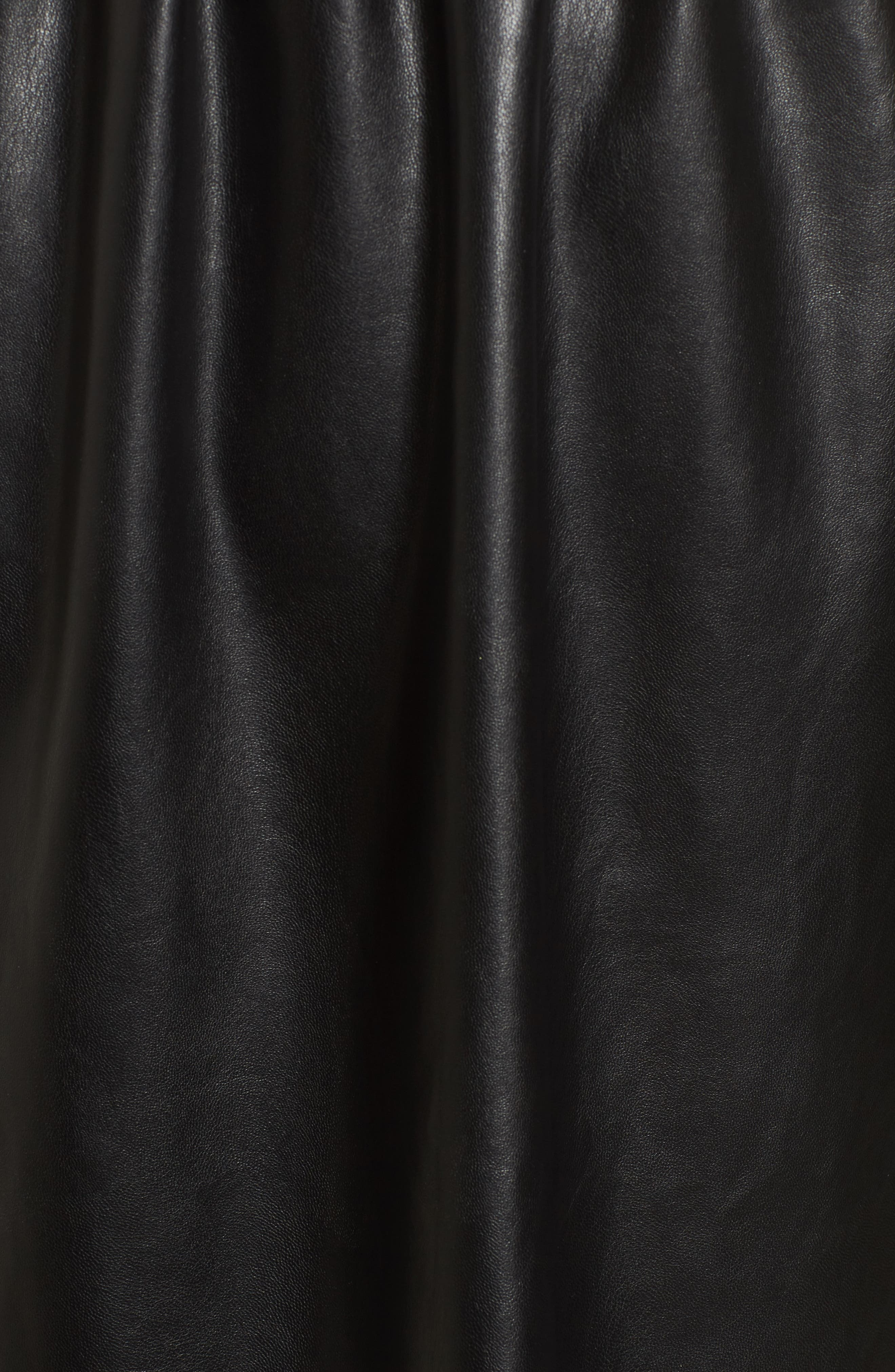 Faux Leather Skater Dress,                             Alternate thumbnail 9, color,