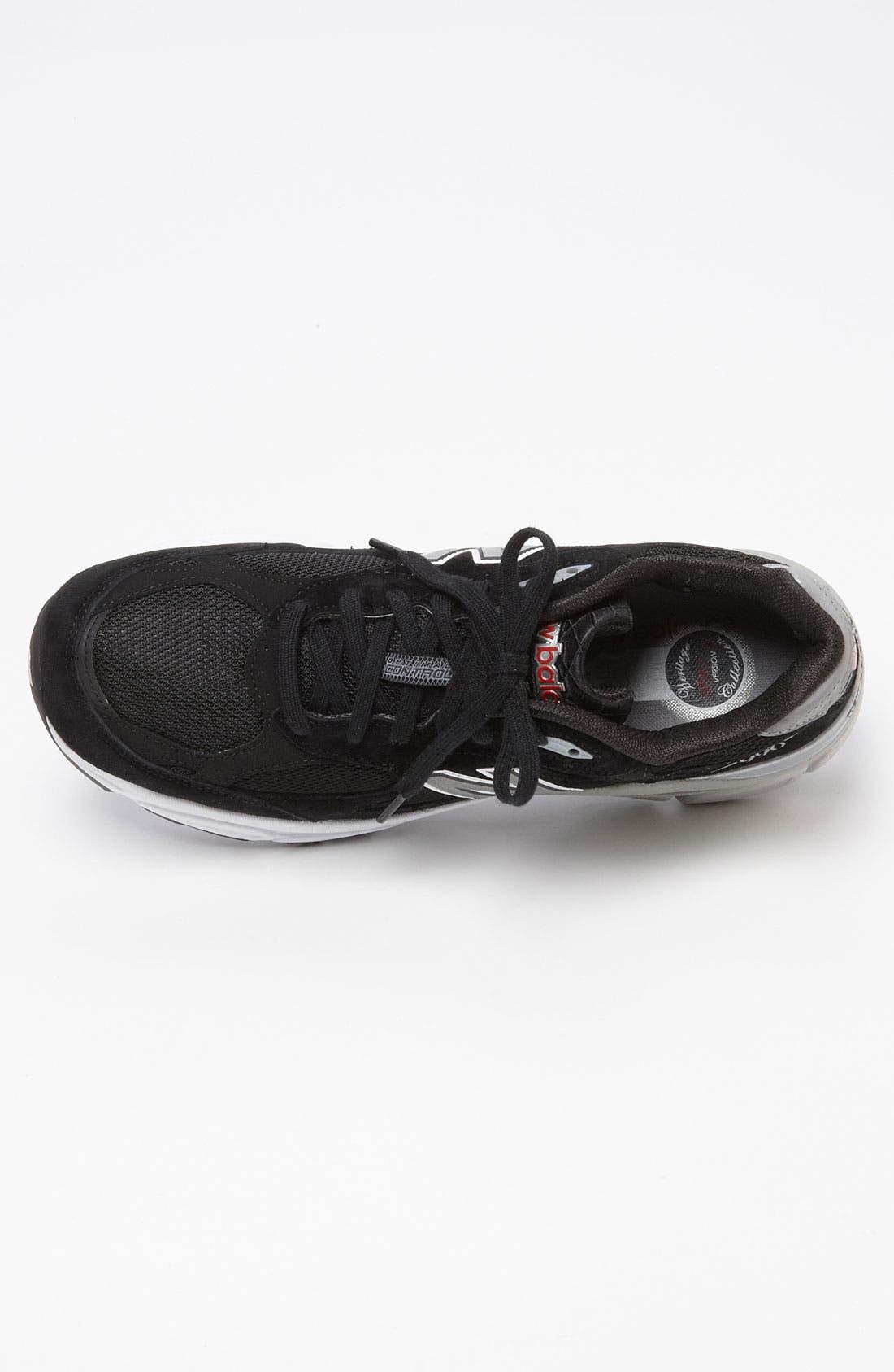NEW BALANCE,                             '990' Running Shoe,                             Alternate thumbnail 4, color,                             001