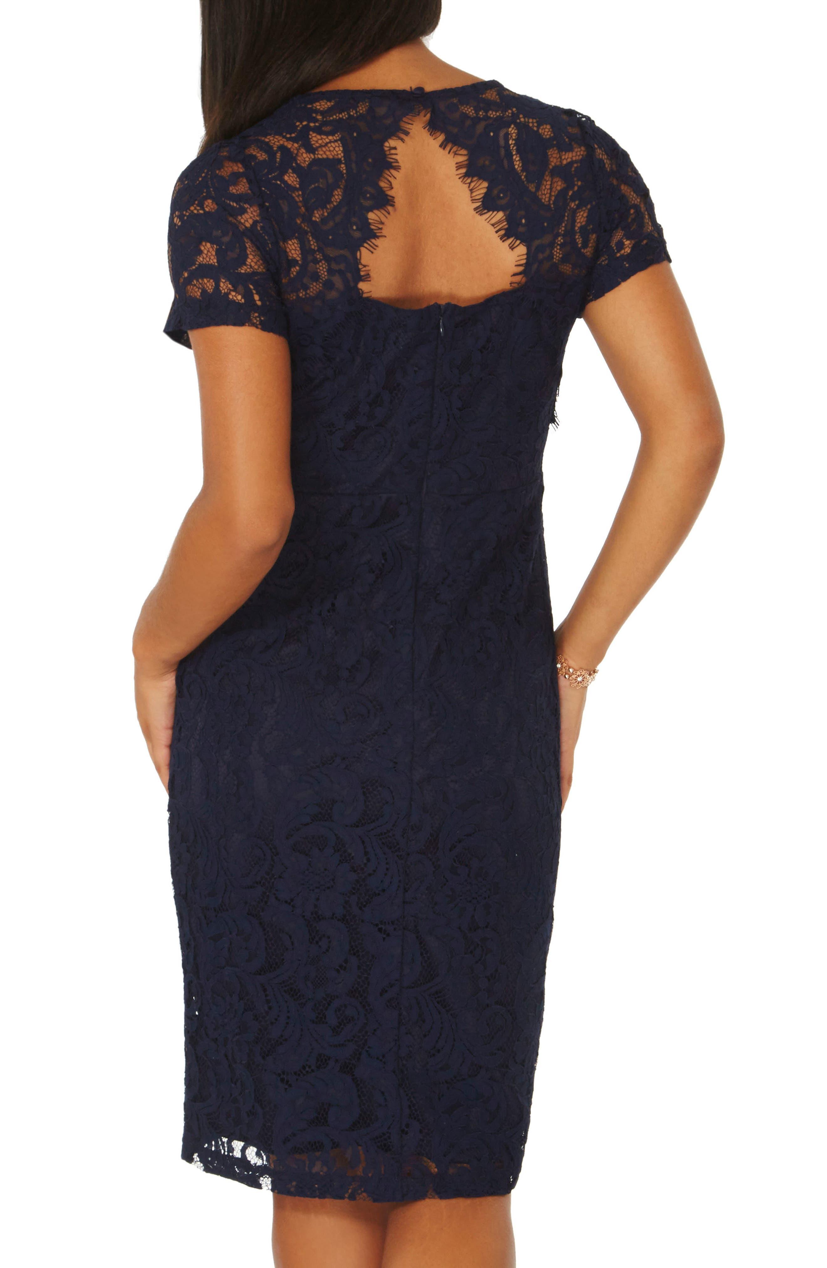 Lace Pencil Dress,                             Alternate thumbnail 2, color,                             401