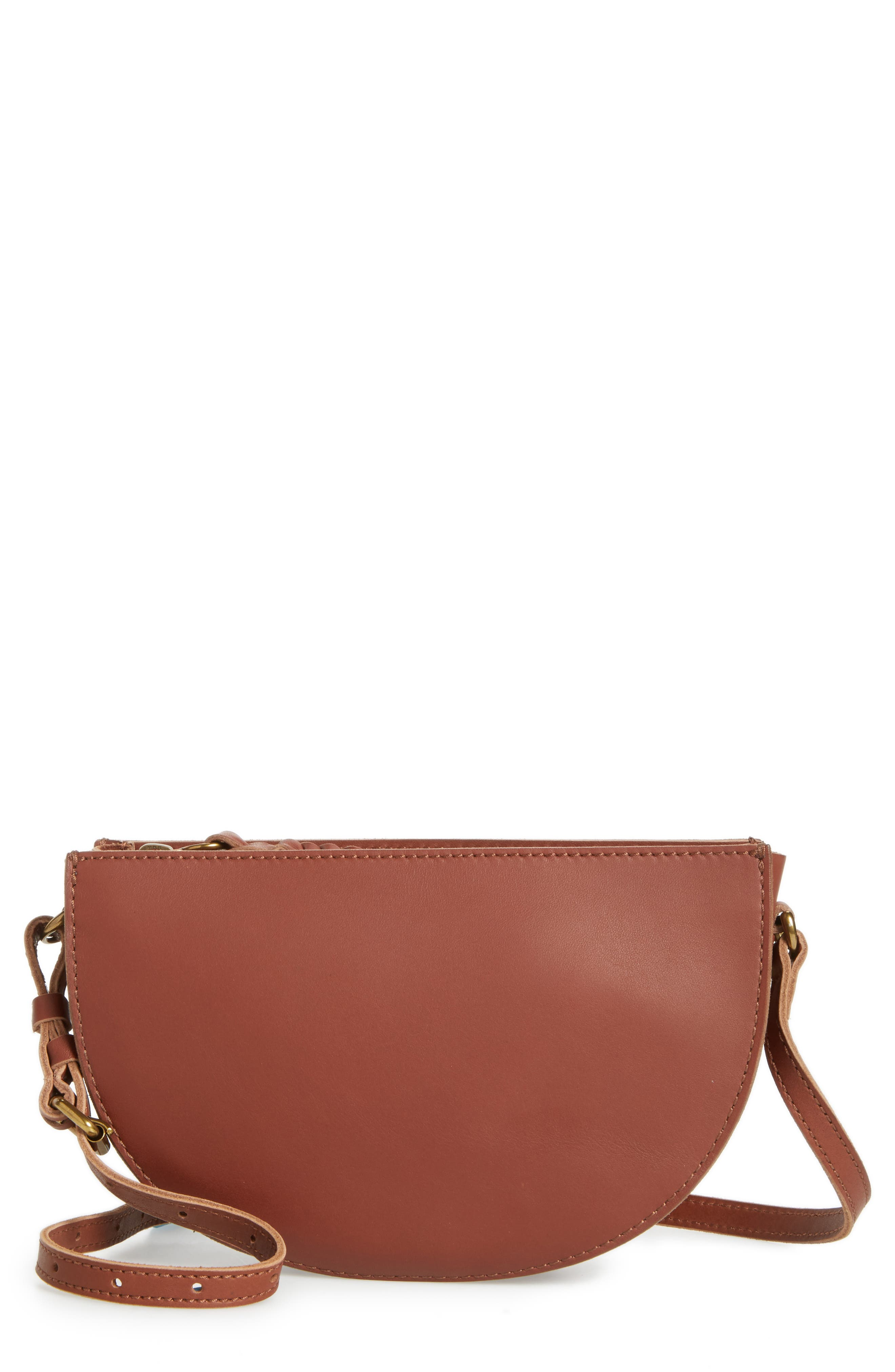 Juniper Vachetta Leather Half Moon Crossbody Bag,                             Main thumbnail 3, color,
