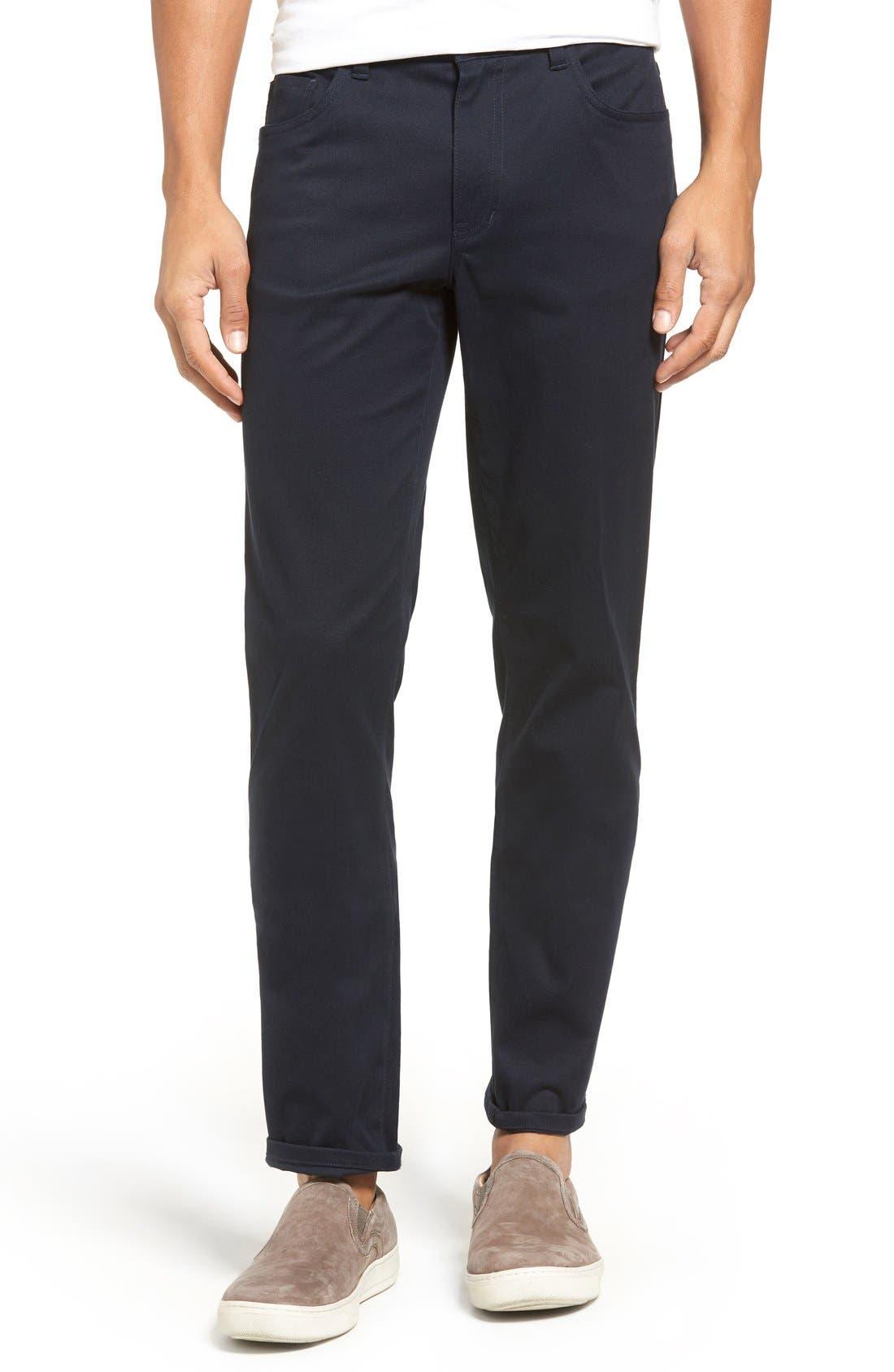 Soho Slim Fit Five-Pocket Pants,                             Alternate thumbnail 9, color,                             COASTAL