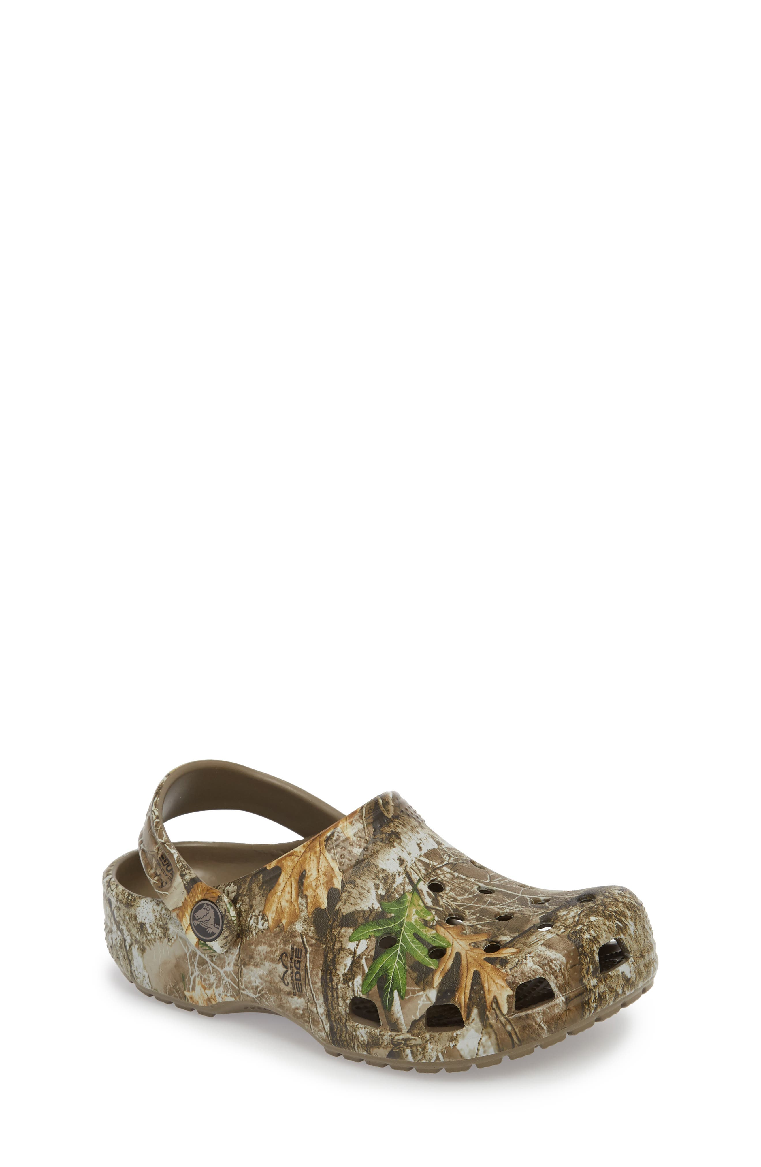 Realtree<sup>®</sup> Edge Print Classic Clog,                         Main,                         color, WALNUT