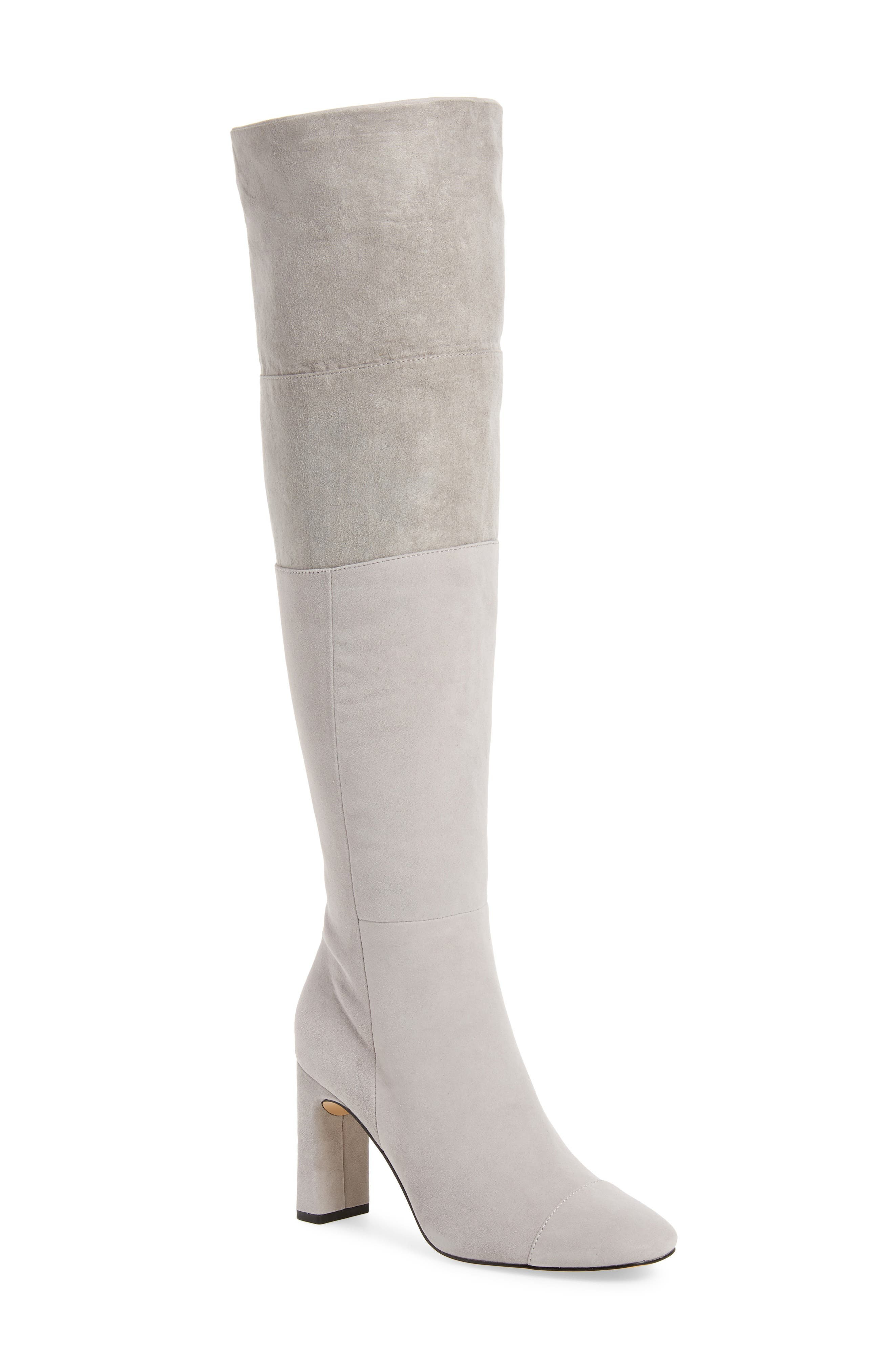 Mia Knee High Boot,                             Alternate thumbnail 2, color,                             LIGHT GREY SUEDE