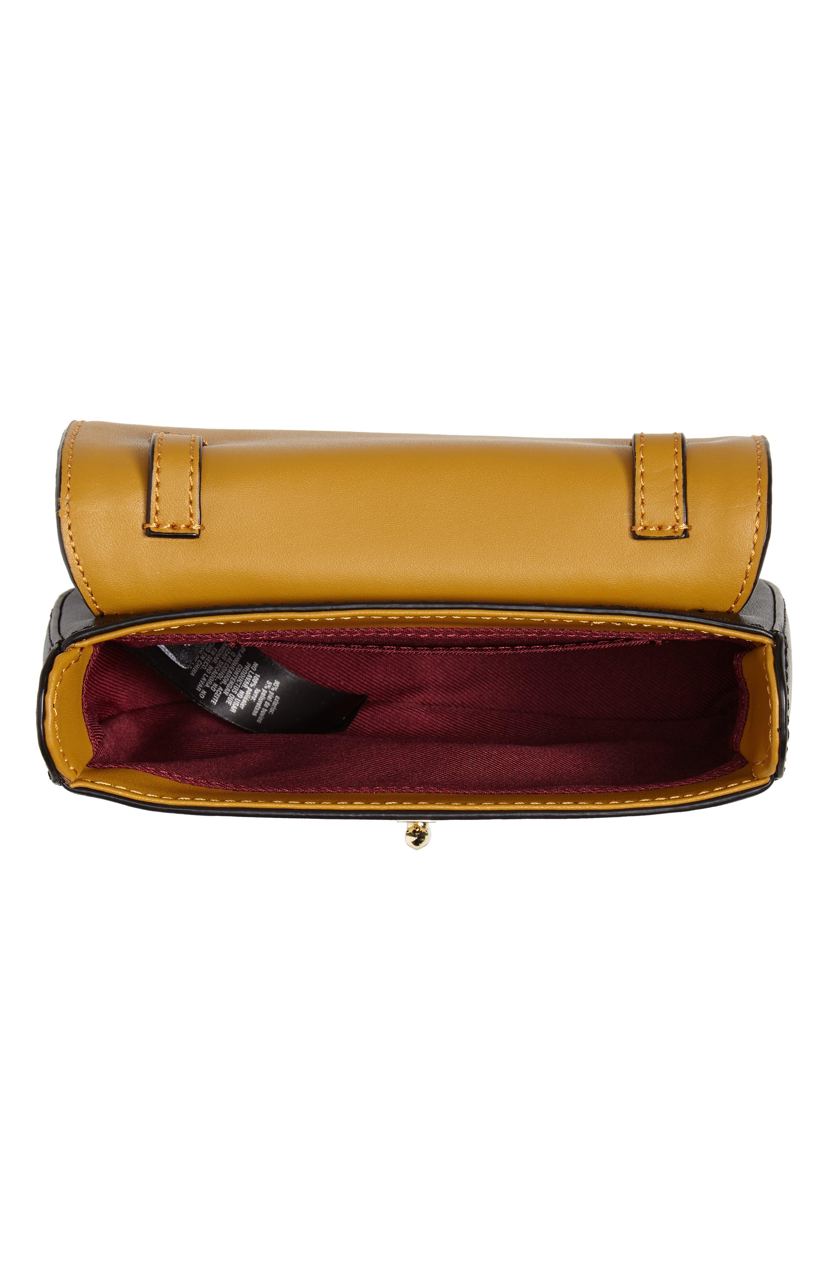 TED BAKER LONDON,                             Colour by Numbers Krakan Leather Belt Bag,                             Alternate thumbnail 6, color,                             BLACK