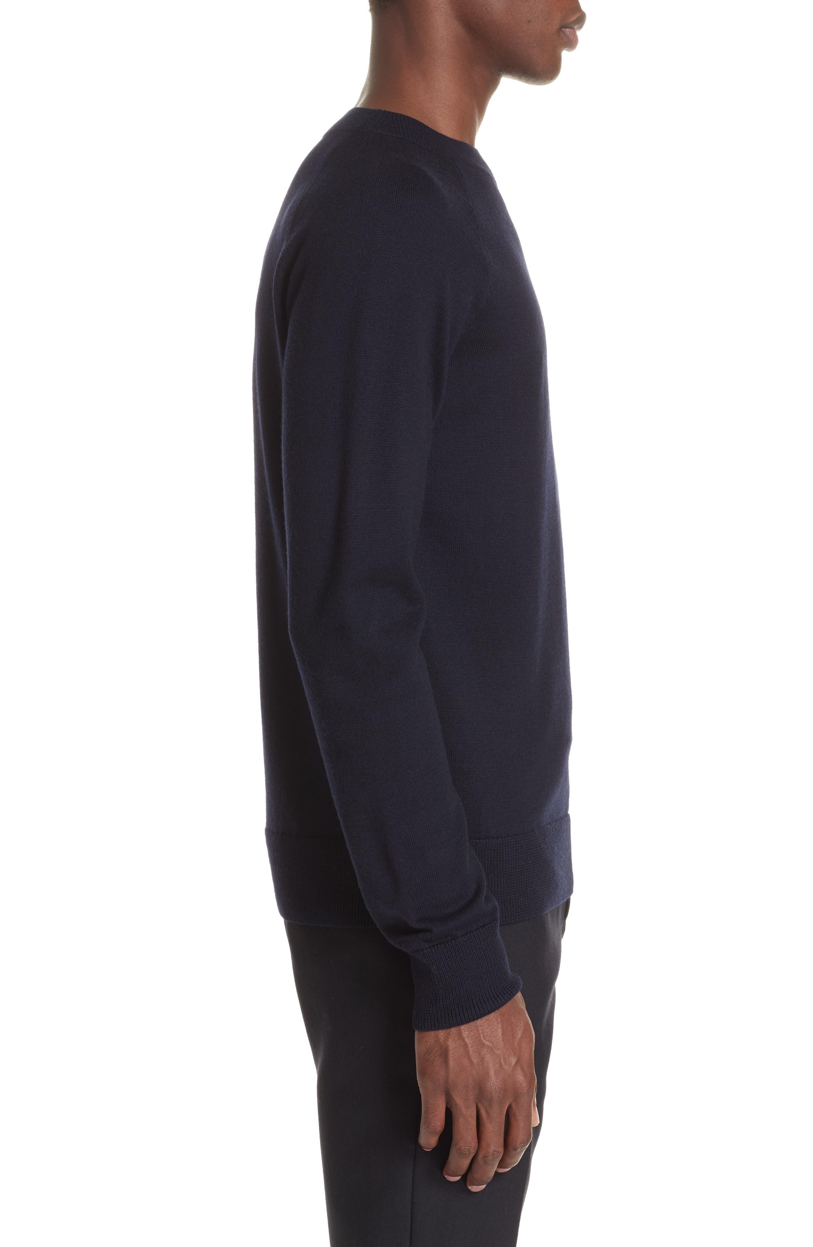 Mimic Raglan Sweater,                             Alternate thumbnail 3, color,                             NAVY