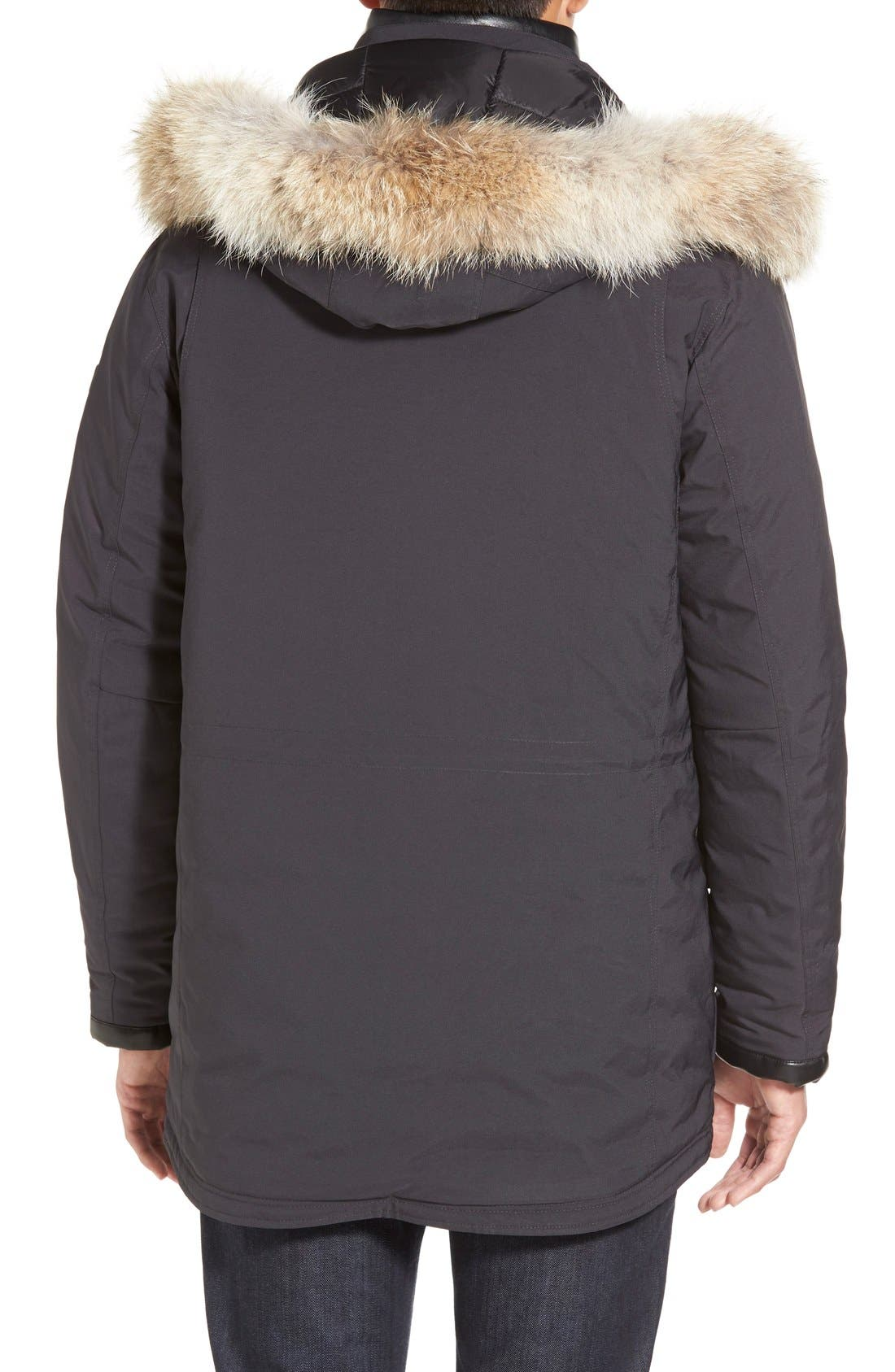 TUMI,                             'Fully Loaded' Parka with Genuine Coyote Fur Trim,                             Alternate thumbnail 5, color,                             021
