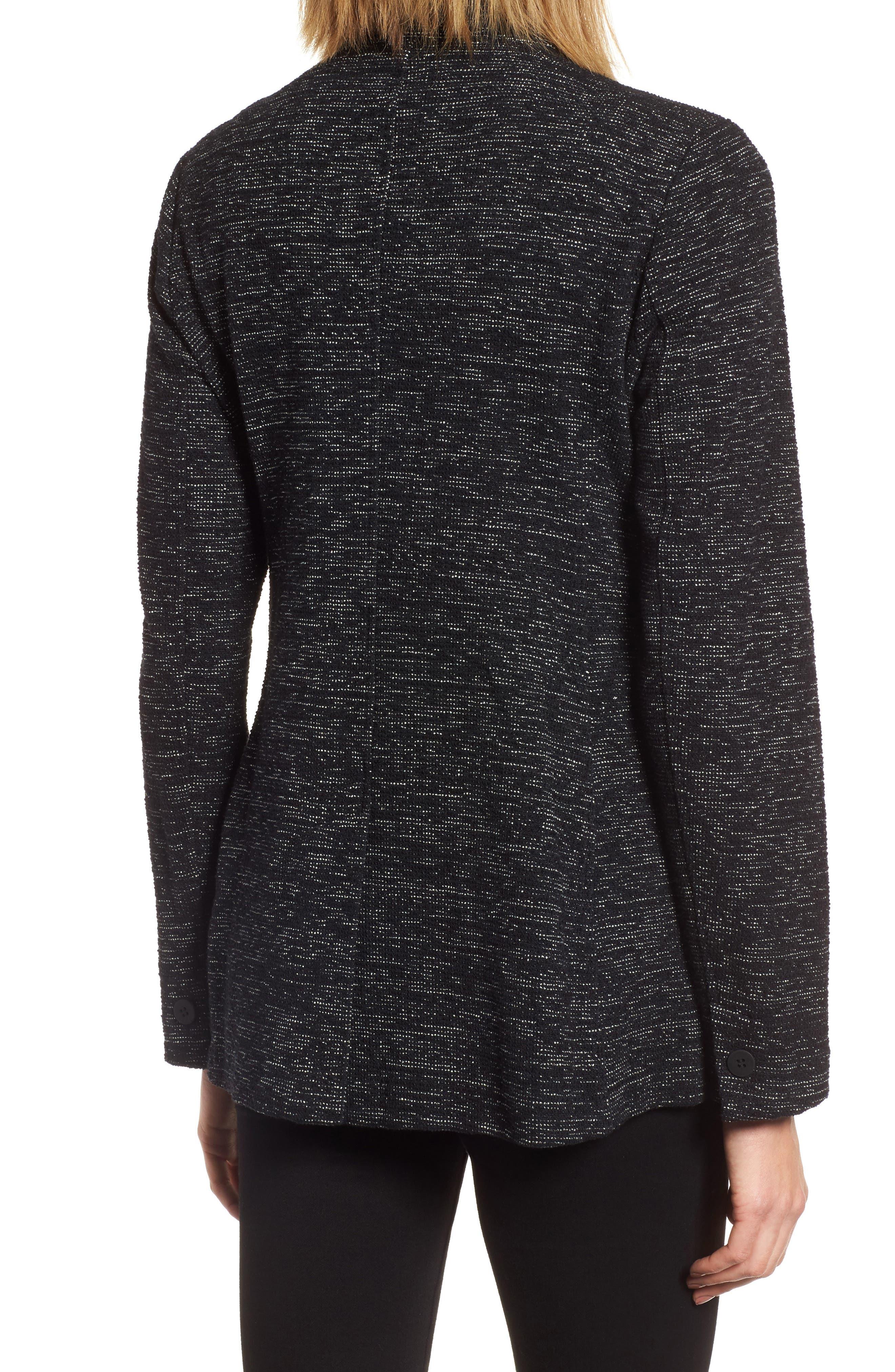 Organic Cotton Blend Tweed Jacket,                             Alternate thumbnail 2, color,