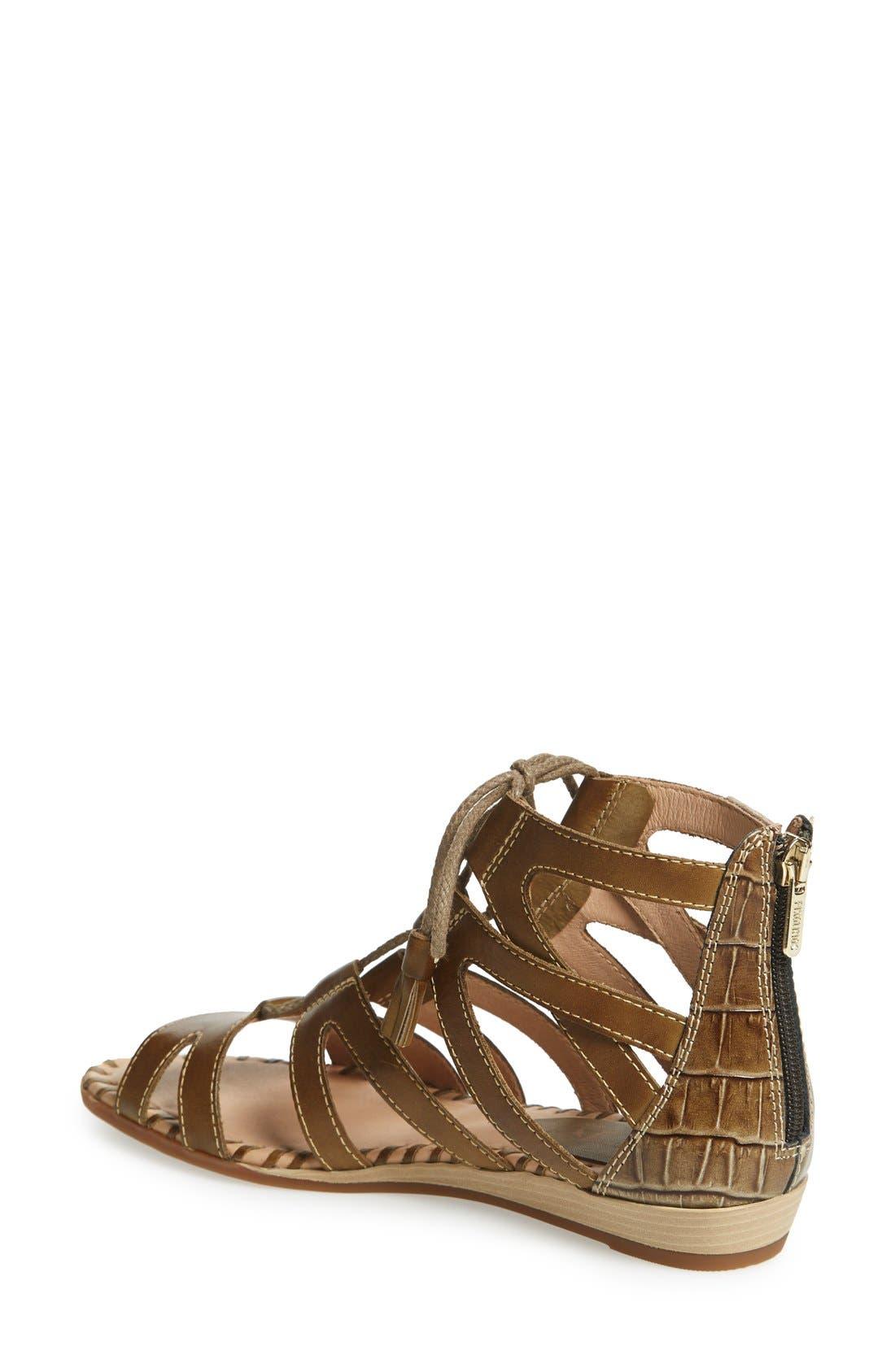 'Alcudia' Lace-Up Sandal,                             Alternate thumbnail 6, color,
