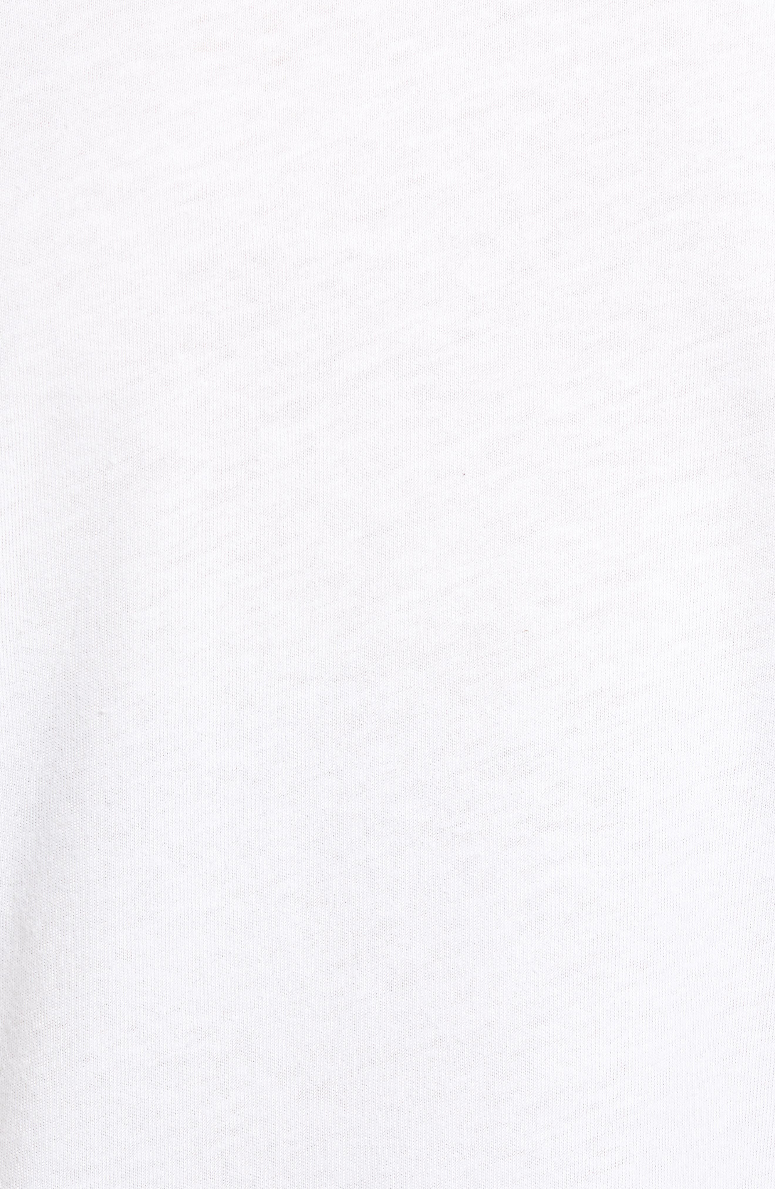 Old Fashioned Slouched Tee,                             Alternate thumbnail 5, color,                             WHITE